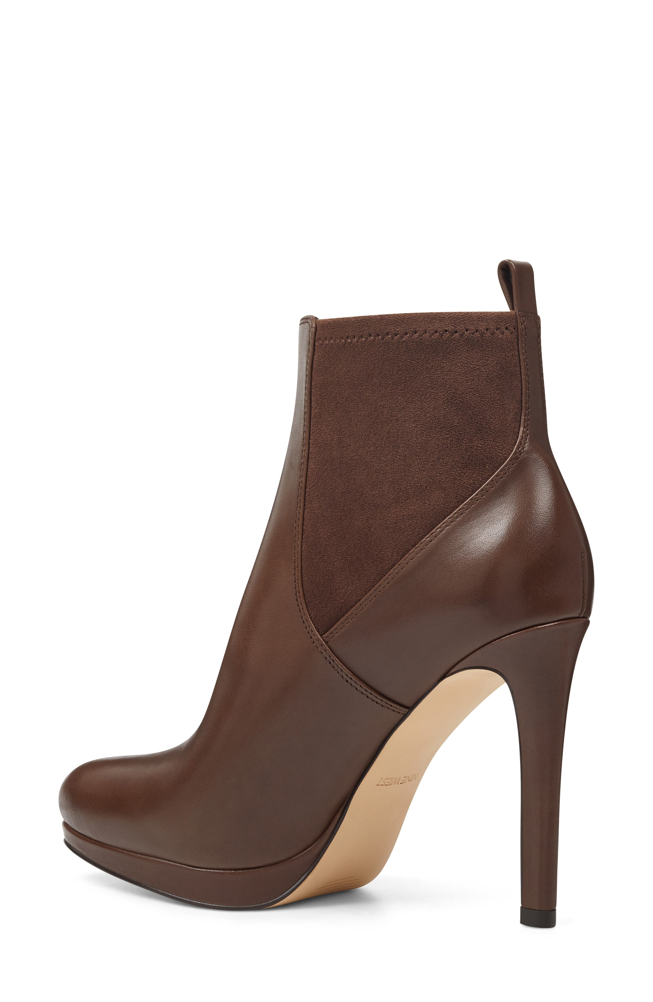 Quillen Stretch Bootie,                             Alternate thumbnail 2, color,                             BROWN LEATHER