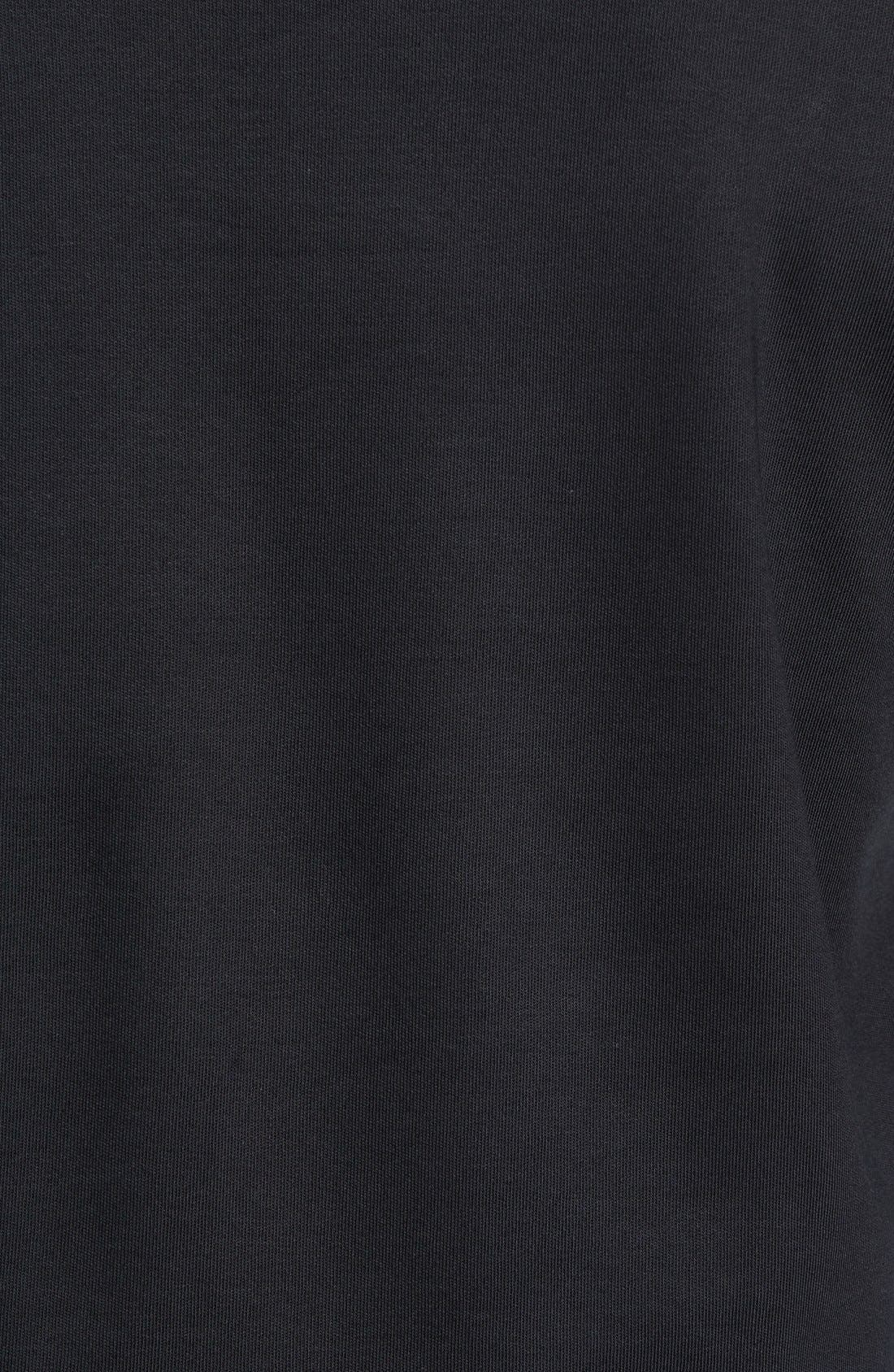 'Walker' Tipped Pima Cotton Long Sleeve T-Shirt,                             Alternate thumbnail 5, color,                             001