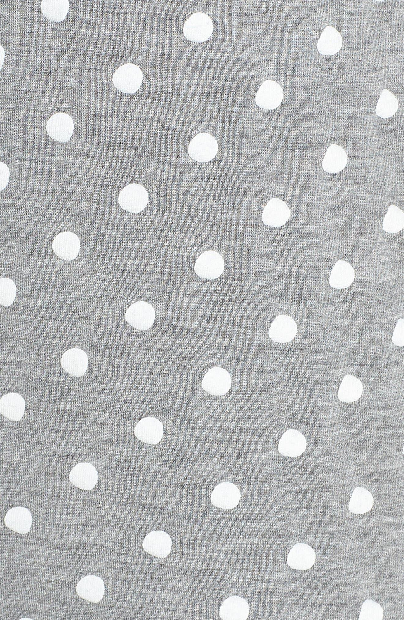 Modal Three-Quarter Sleeve Short Pajamas,                             Alternate thumbnail 5, color,                             H GREY