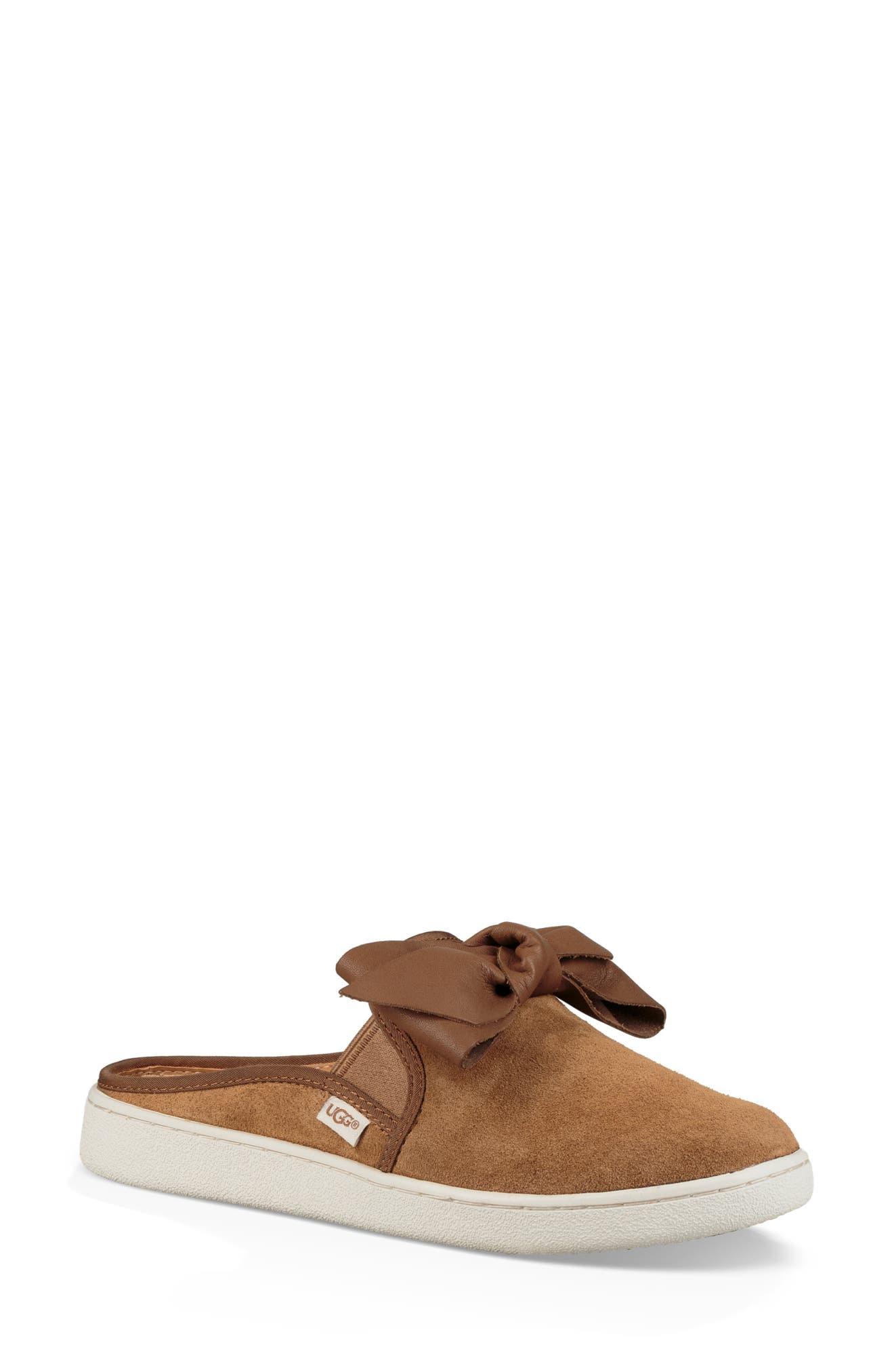 UGG<SUP>®</SUP> Ida Mule Sneaker, Main, color, CHESTNUT SUEDE