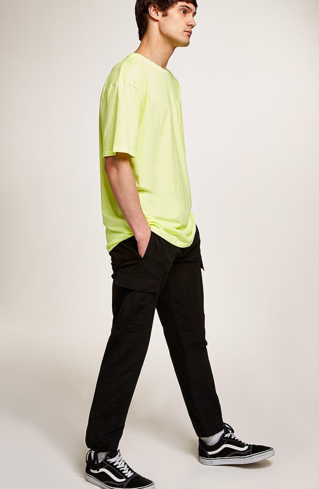 Oversize Acid Wash Pocket T-Shirt,                             Alternate thumbnail 5, color,                             LIGHT GREEN