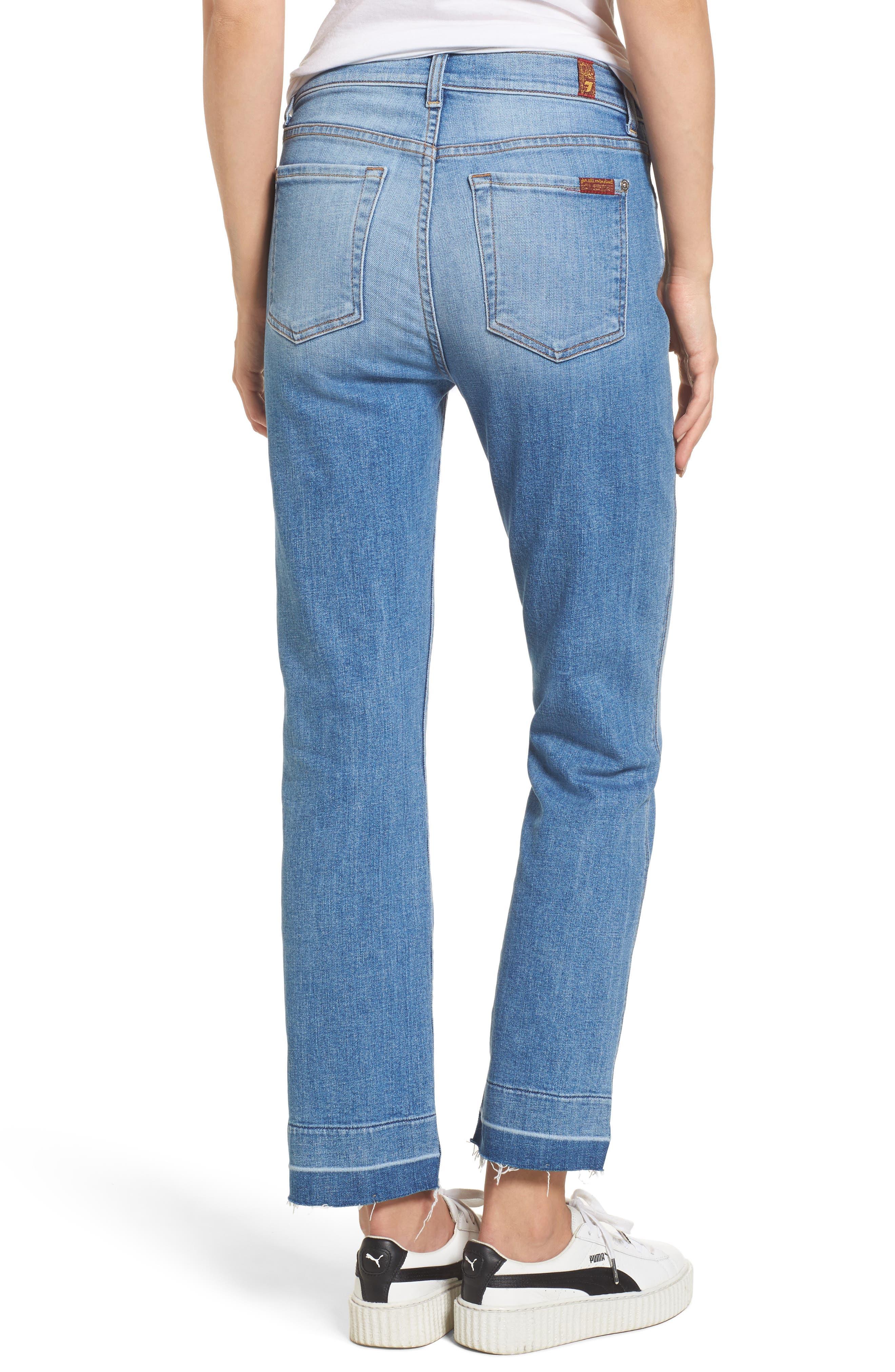 Edie High Waist Crop Release Hem Jeans,                             Alternate thumbnail 2, color,                             400
