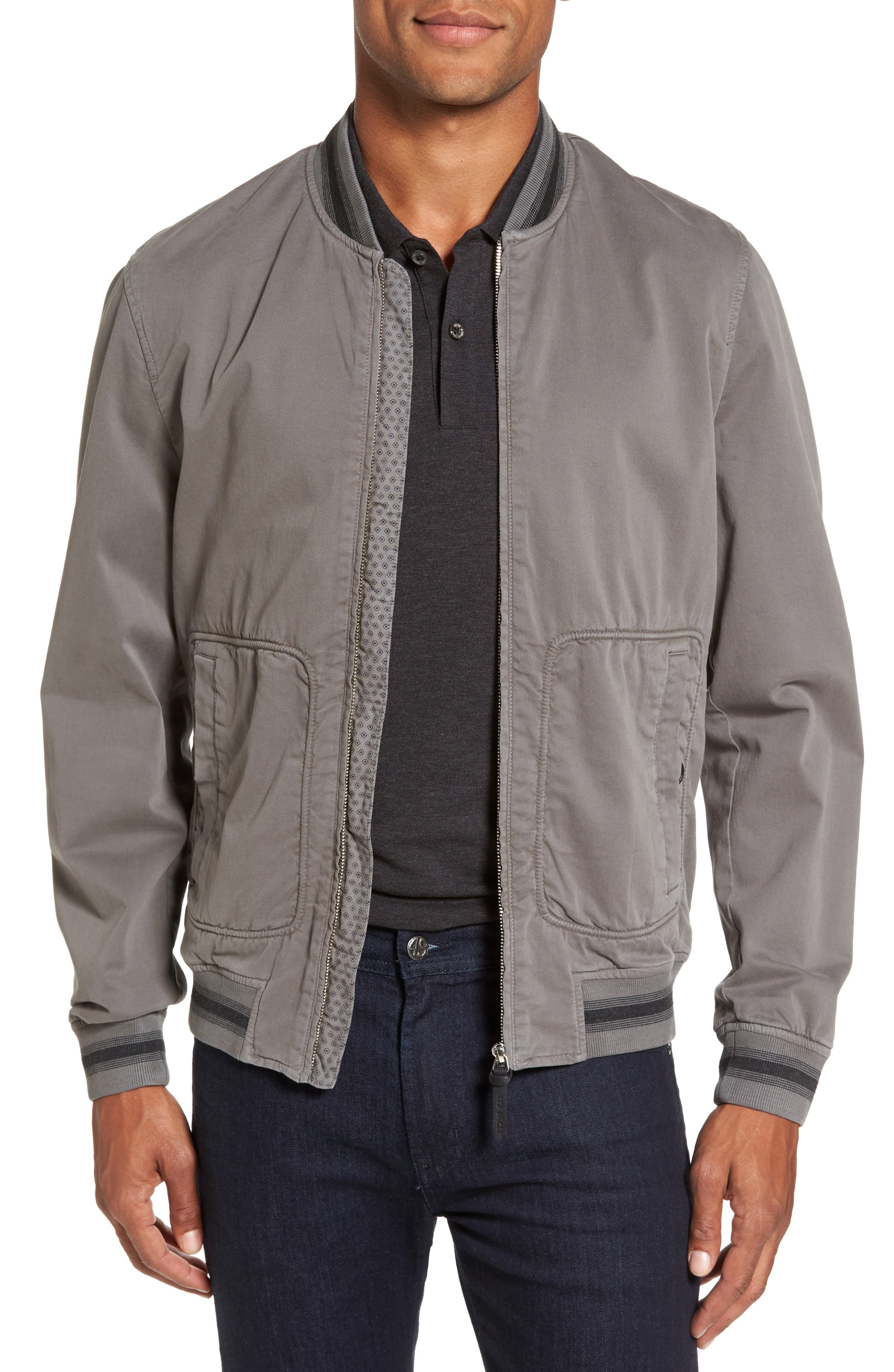 Robot Laundered Bomber Jacket,                         Main,                         color, 030