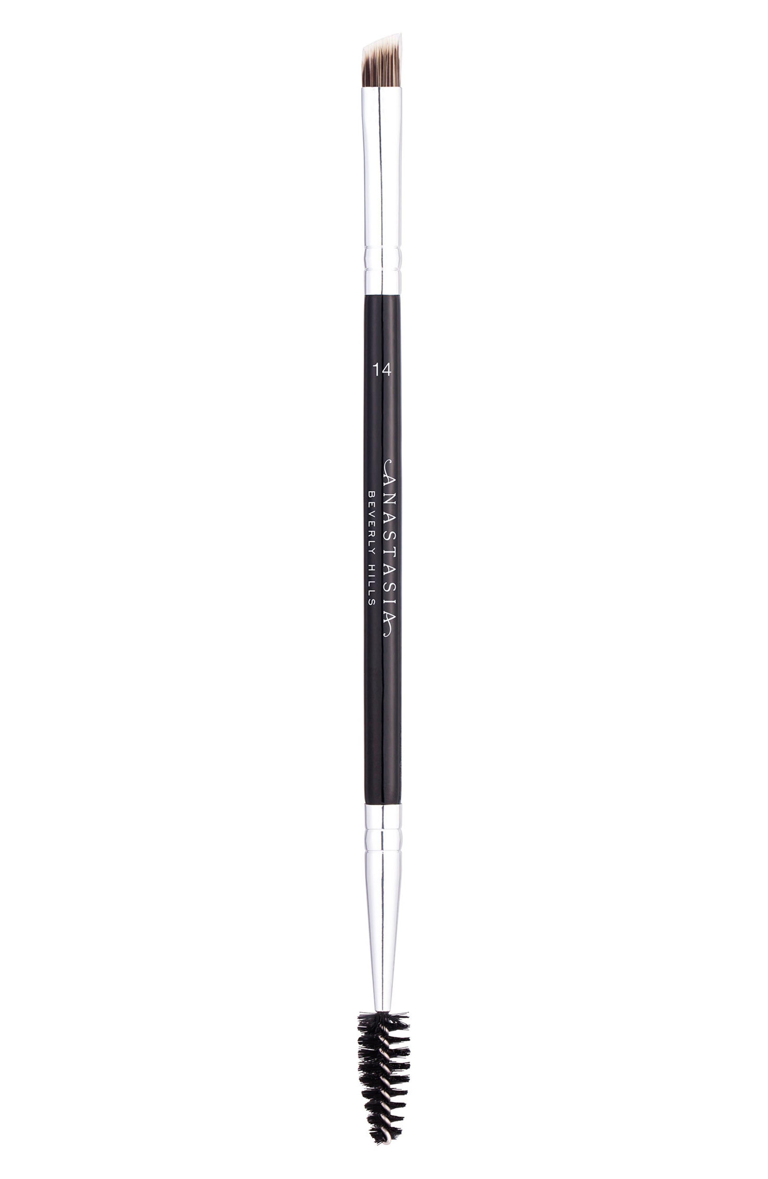 #14 Dual-Sided Brow & Eyeliner Brush,                             Main thumbnail 1, color,                             NO COLOR