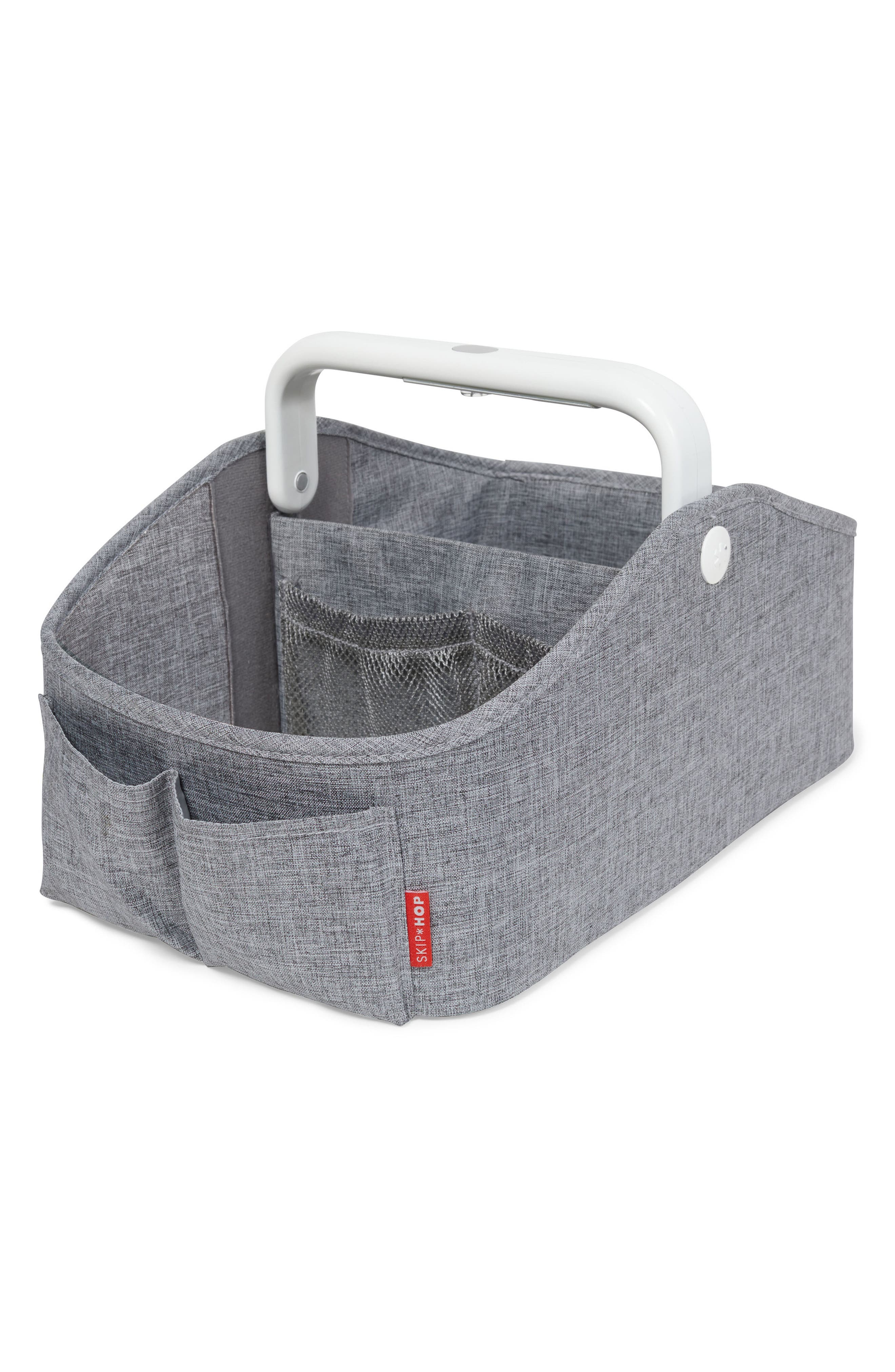 Light Up Diaper Caddy,                             Main thumbnail 1, color,                             HEATHER GREY