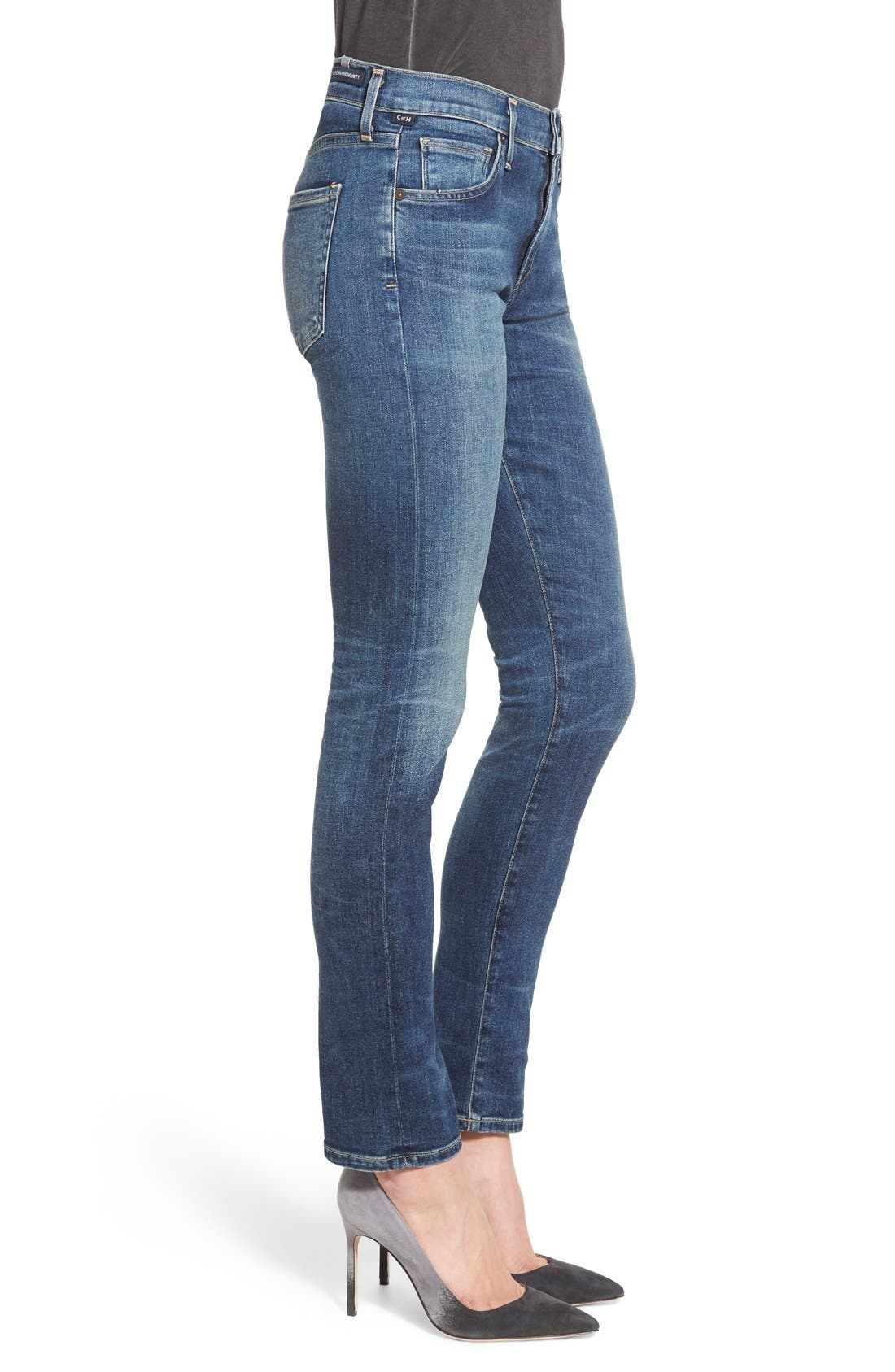 'Agnes' Slim Straight Leg Jeans,                             Alternate thumbnail 3, color,                             400
