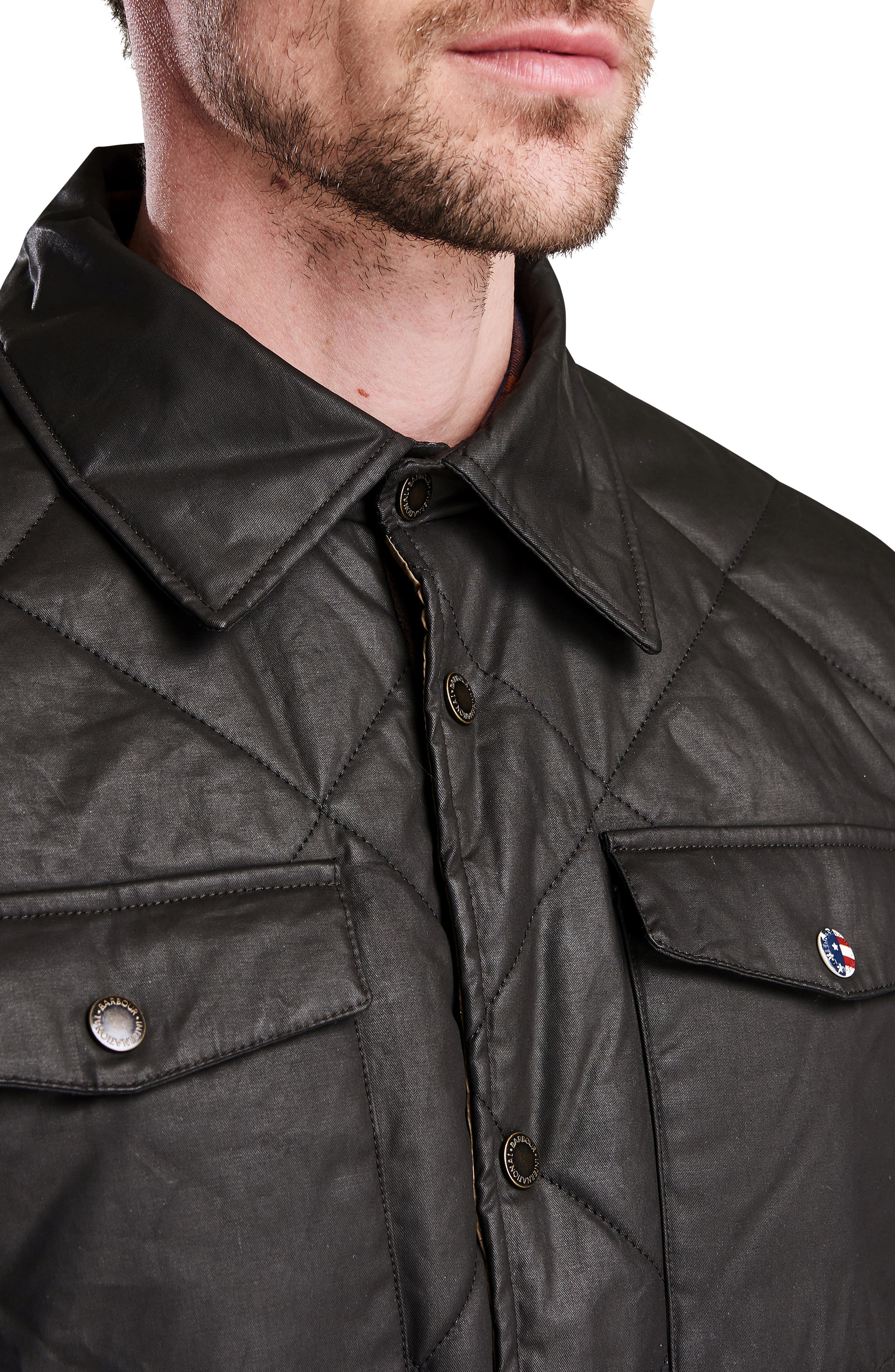 International Sonoran Quilted Shirt Jacket,                             Alternate thumbnail 3, color,                             BROWN