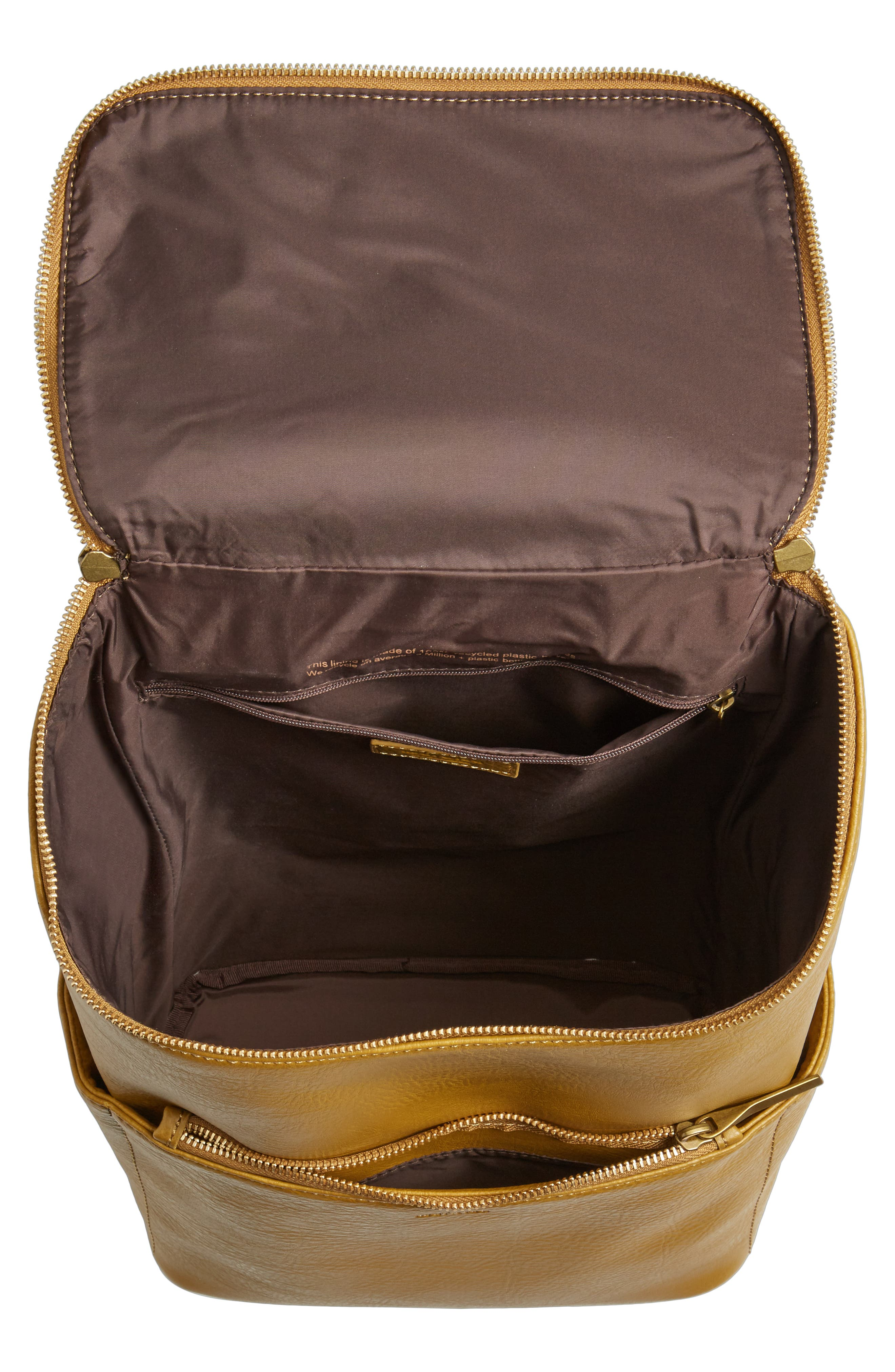 'Brave' Faux Leather Backpack,                             Alternate thumbnail 50, color,