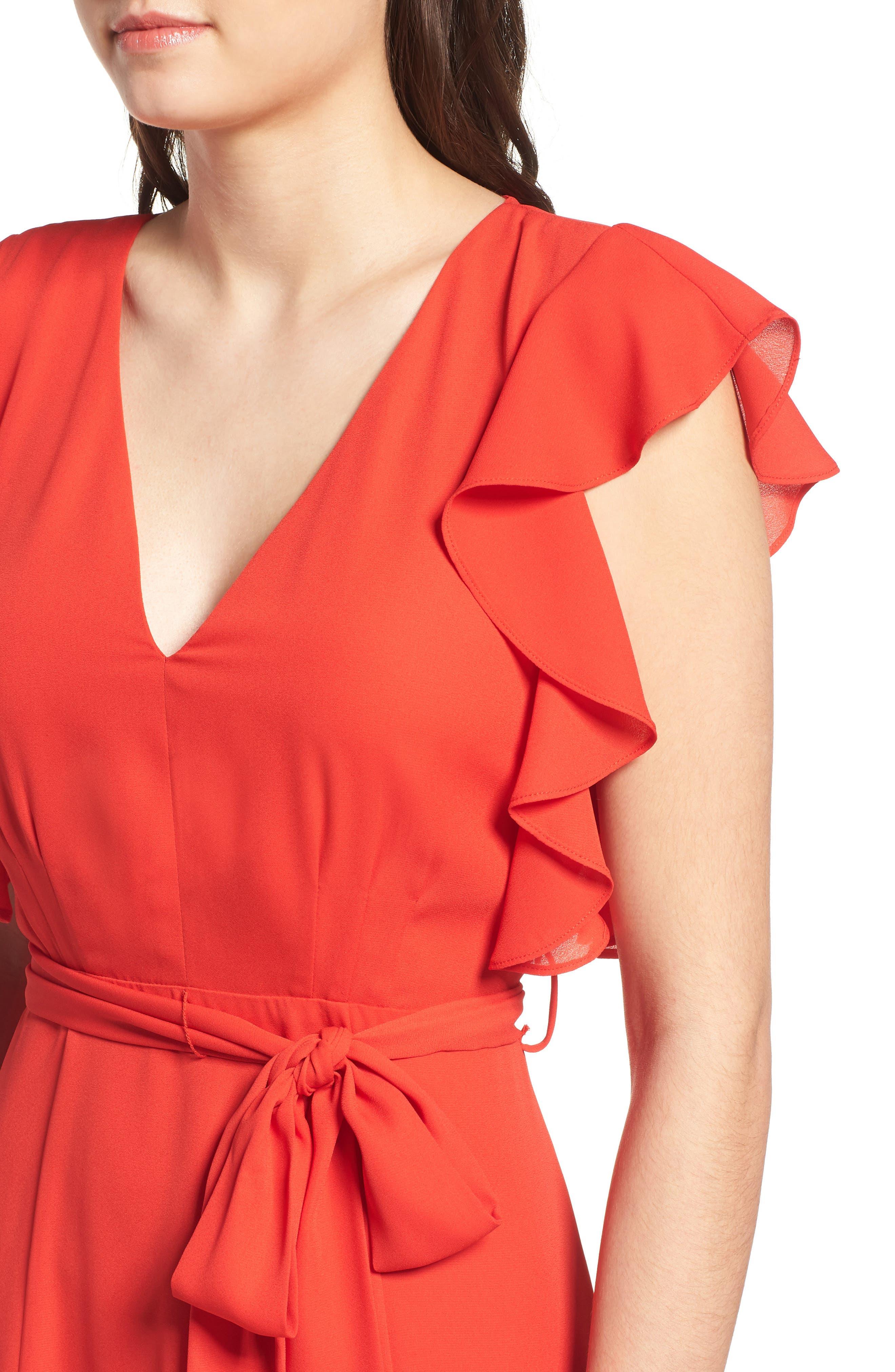 Ruffle Sleeve Dress,                             Alternate thumbnail 9, color,