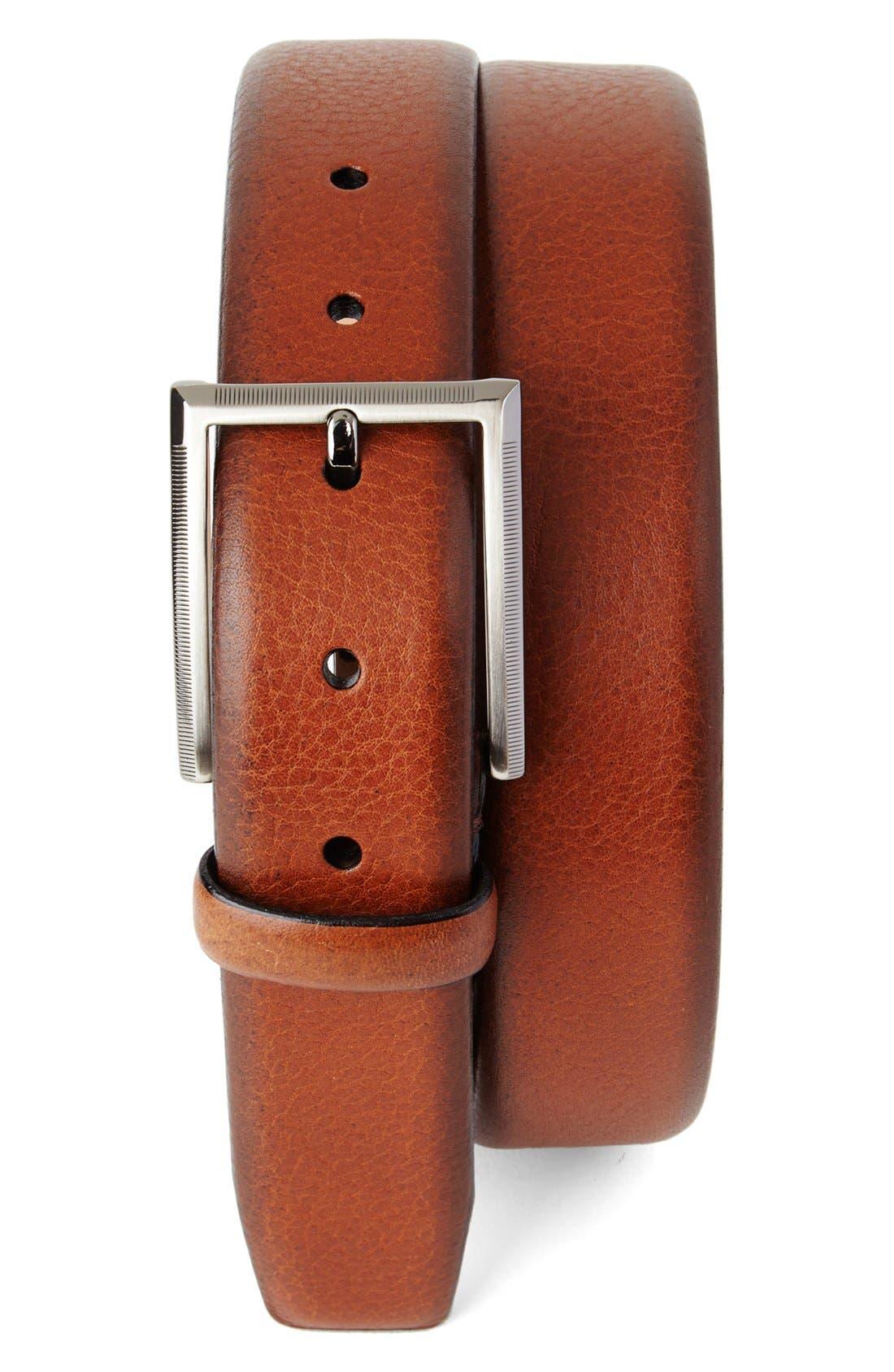 Tommy Bahama Leather Belt, Tan