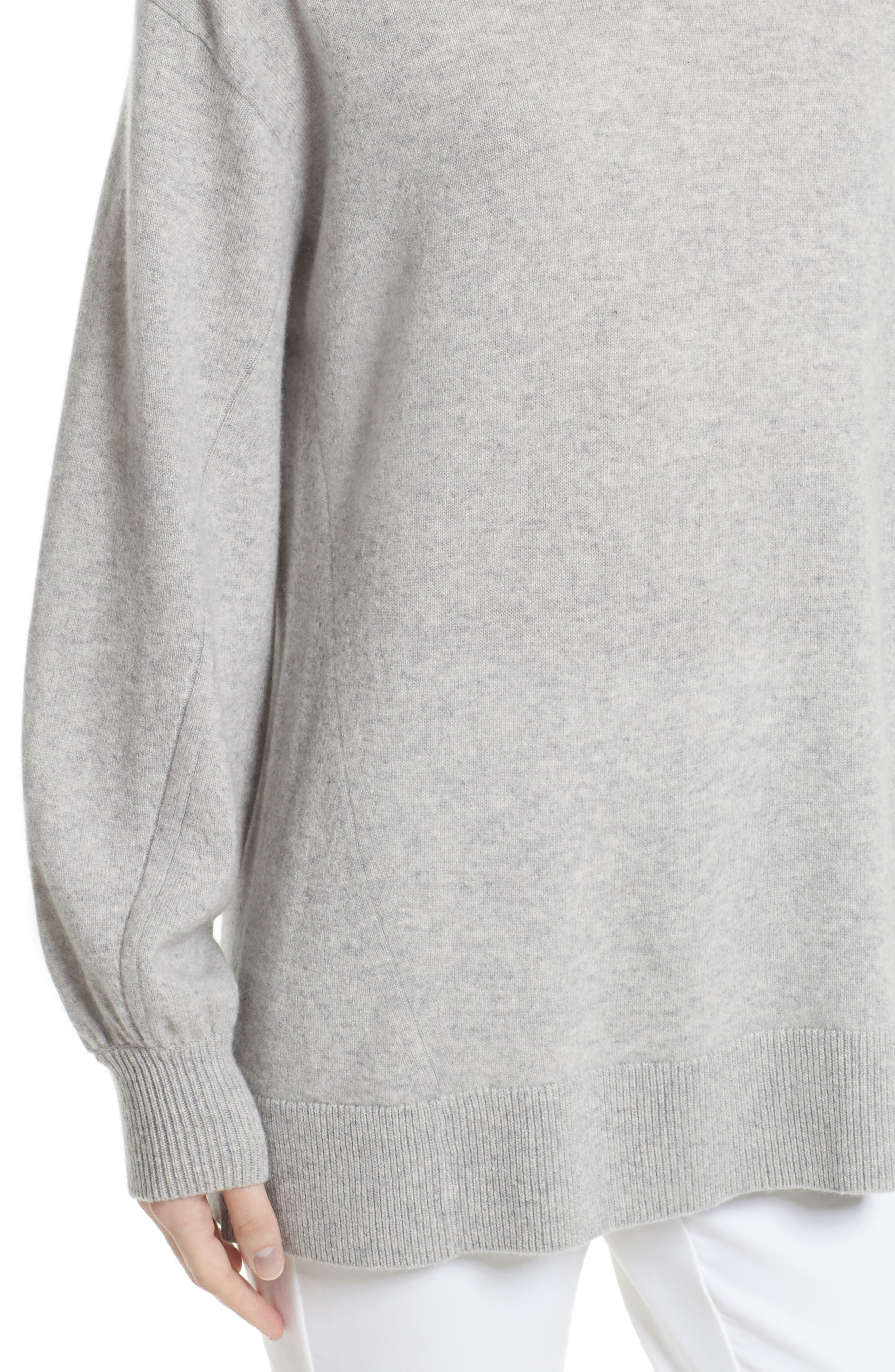 Ace Cashmere Turtleneck Sweater,                             Alternate thumbnail 4, color,                             058