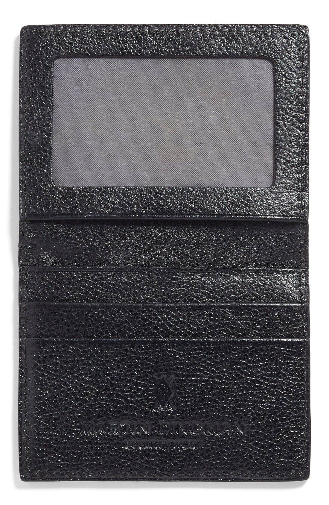 Leather ID Wallet,                             Alternate thumbnail 2, color,                             001