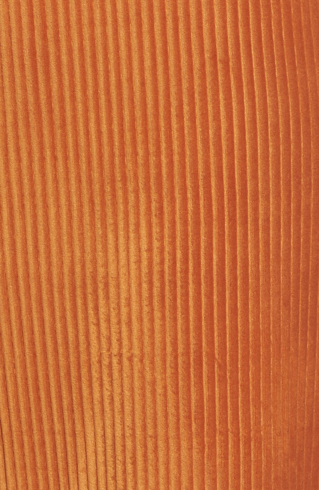 High Rise Knit Corduroy Crop Pants,                             Alternate thumbnail 7, color,                             RUST CIDER
