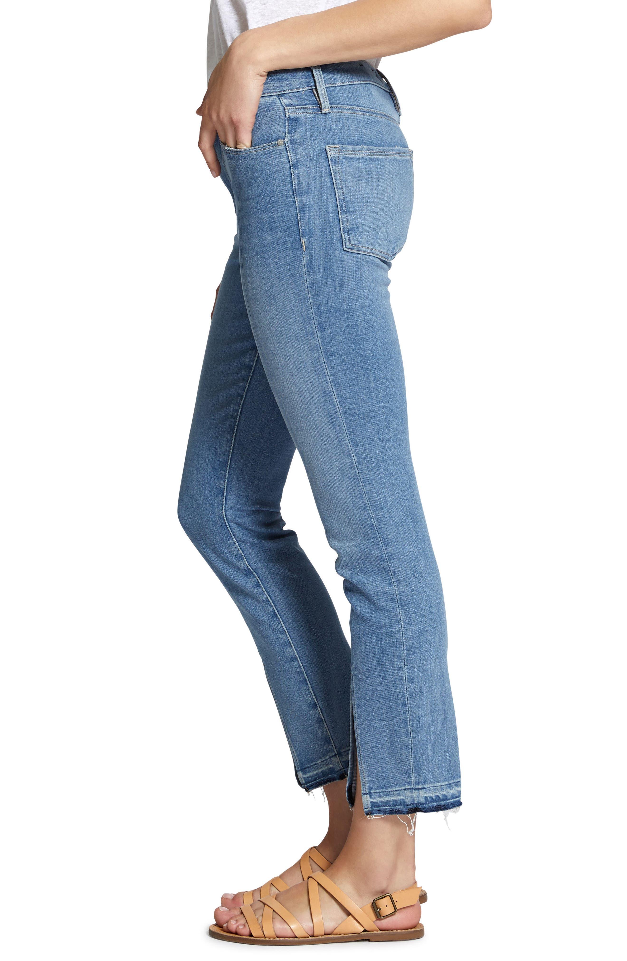 Robbie Spring Slit Jeans,                             Alternate thumbnail 3, color,                             421