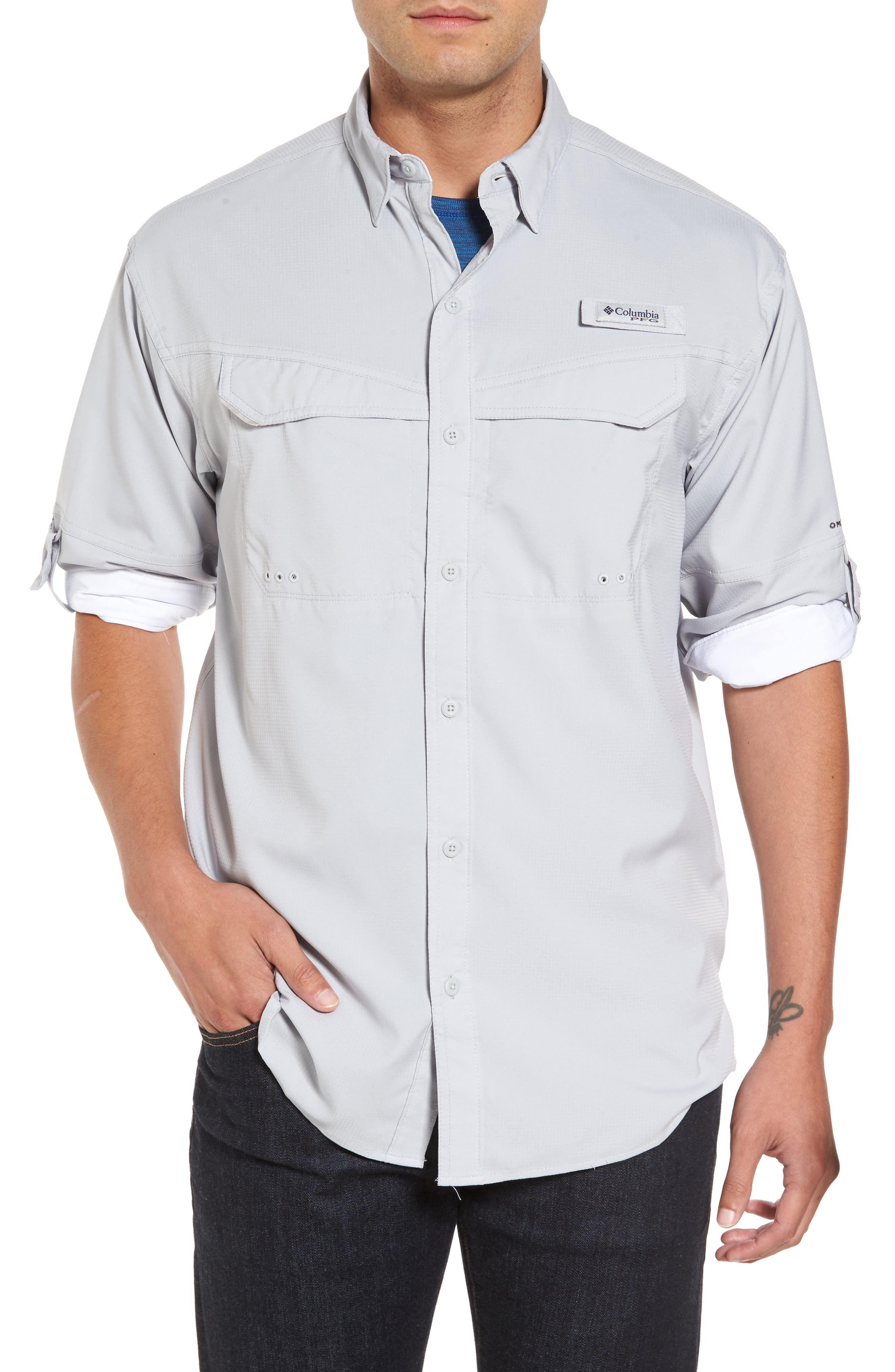 Low Drag Offshore Woven Shirt,                             Main thumbnail 1, color,