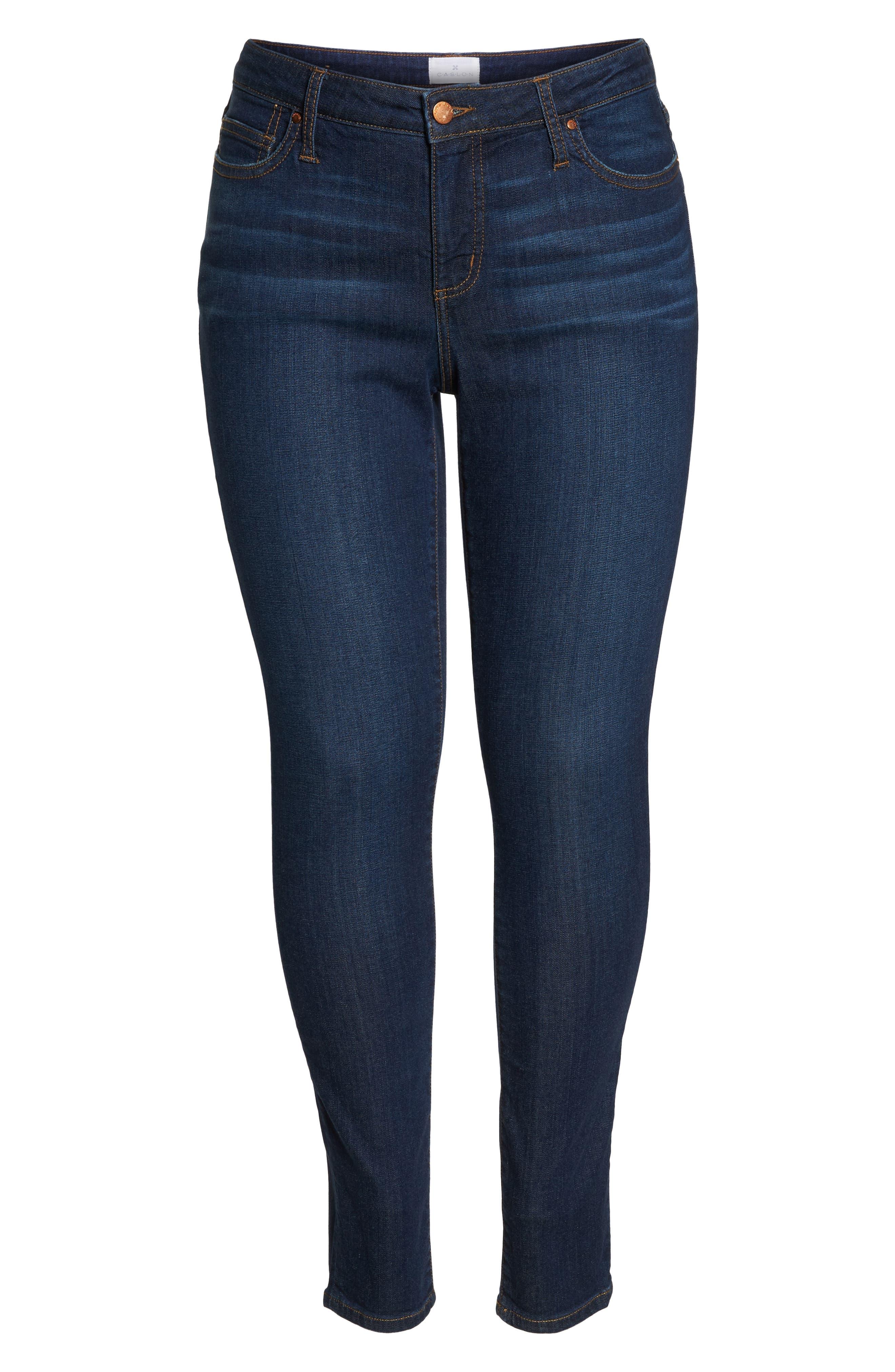 Stretch Skinny Jeans,                             Alternate thumbnail 7, color,                             MEDIUM WASH