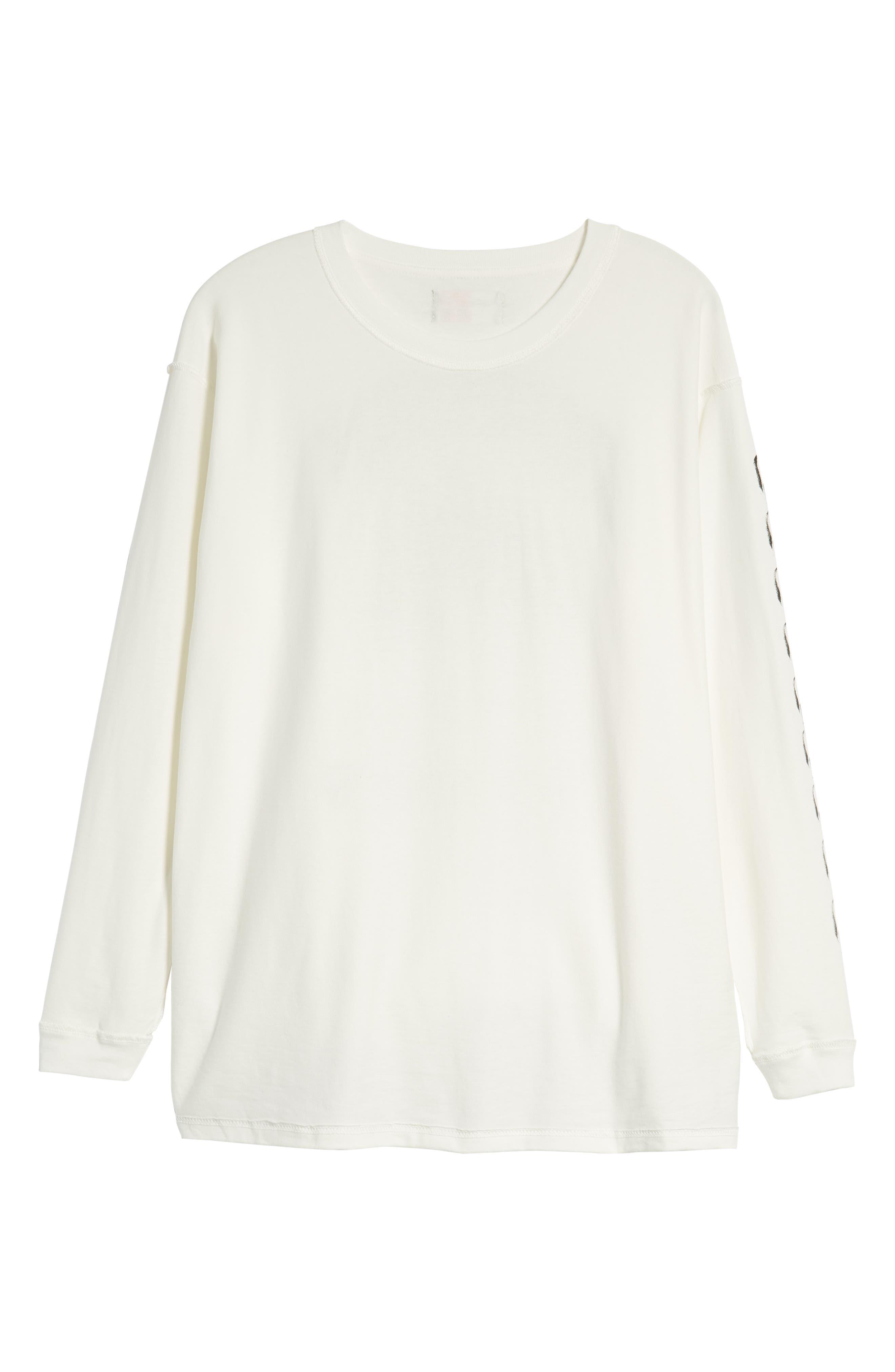 Represent Records Long Sleeve T-Shirt,                             Alternate thumbnail 6, color,                             WHITE