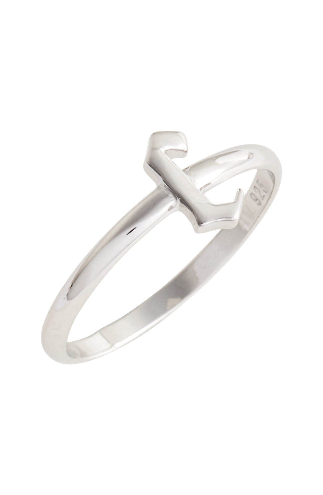 Gothic Initial Ring,                             Main thumbnail 3, color,