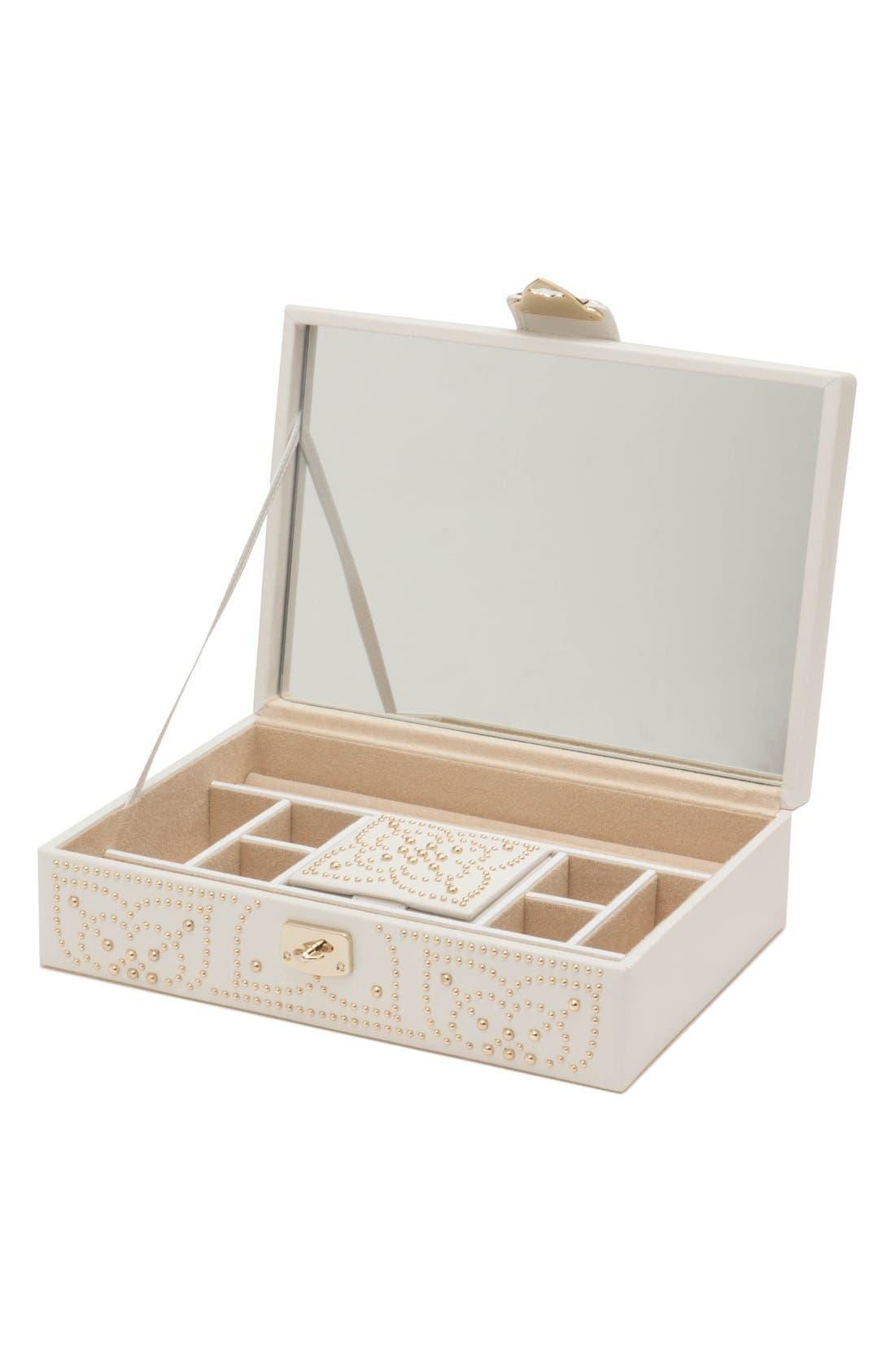 'Marrakesh' Flat Jewelry Box,                             Alternate thumbnail 2, color,                             CREAM