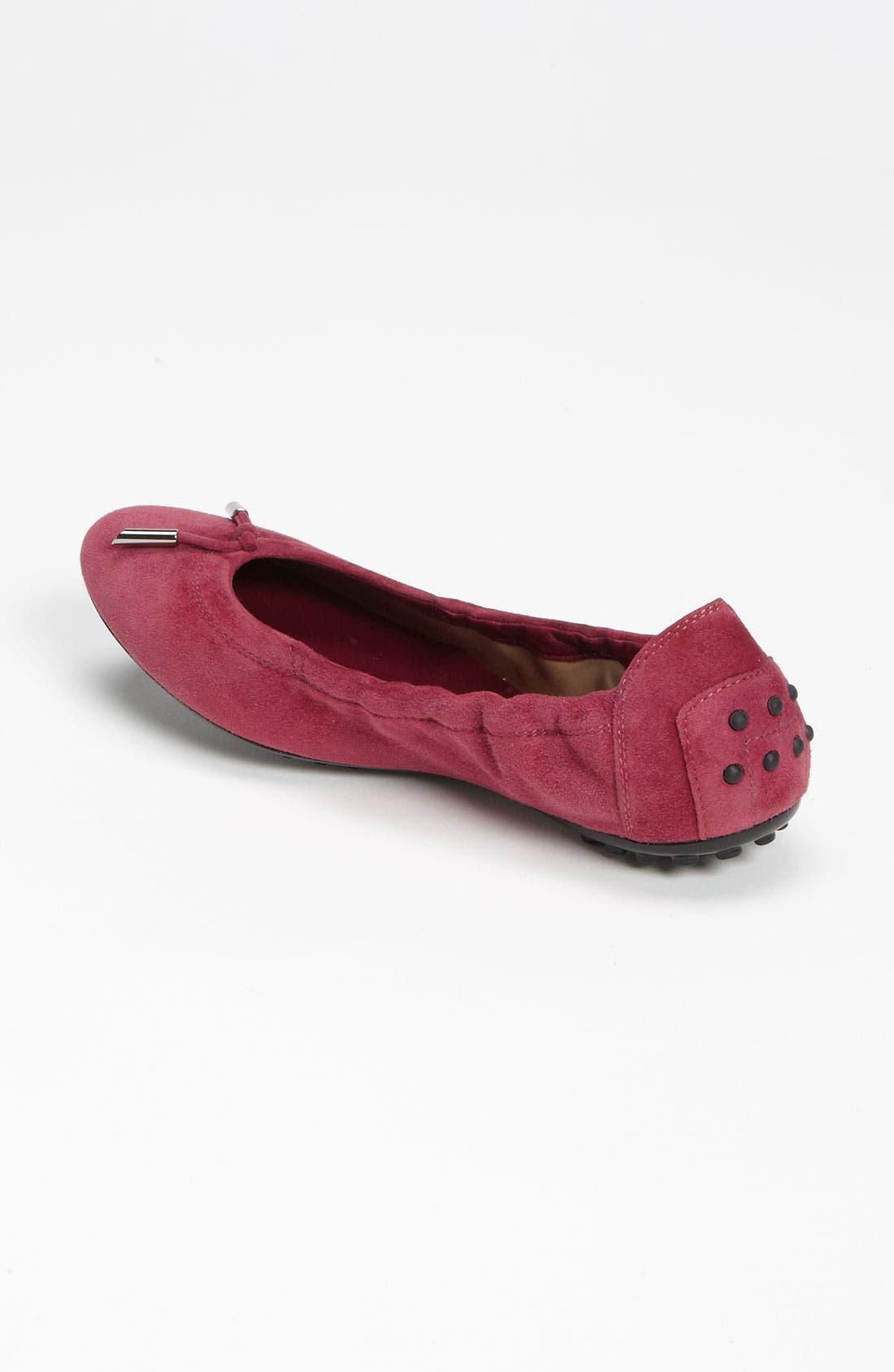 Bow Trim Patent Leather Flat,                             Alternate thumbnail 11, color,