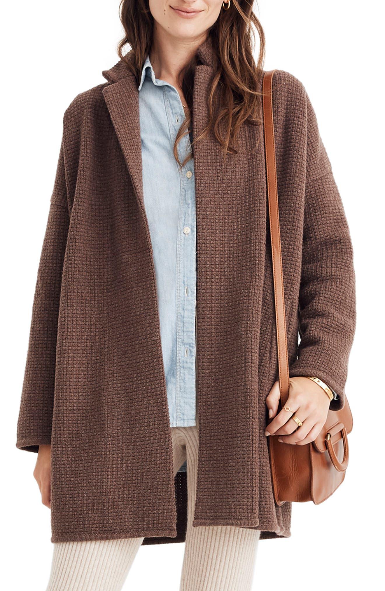Chilton Sweater Coat,                         Main,                         color, HEATHER COCOA