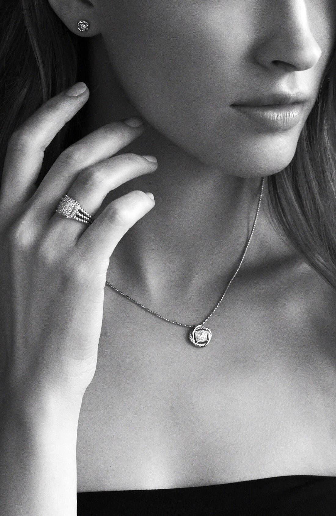 'Infinity' Pendant with Diamonds on Chain,                             Alternate thumbnail 2, color,                             DIAMOND