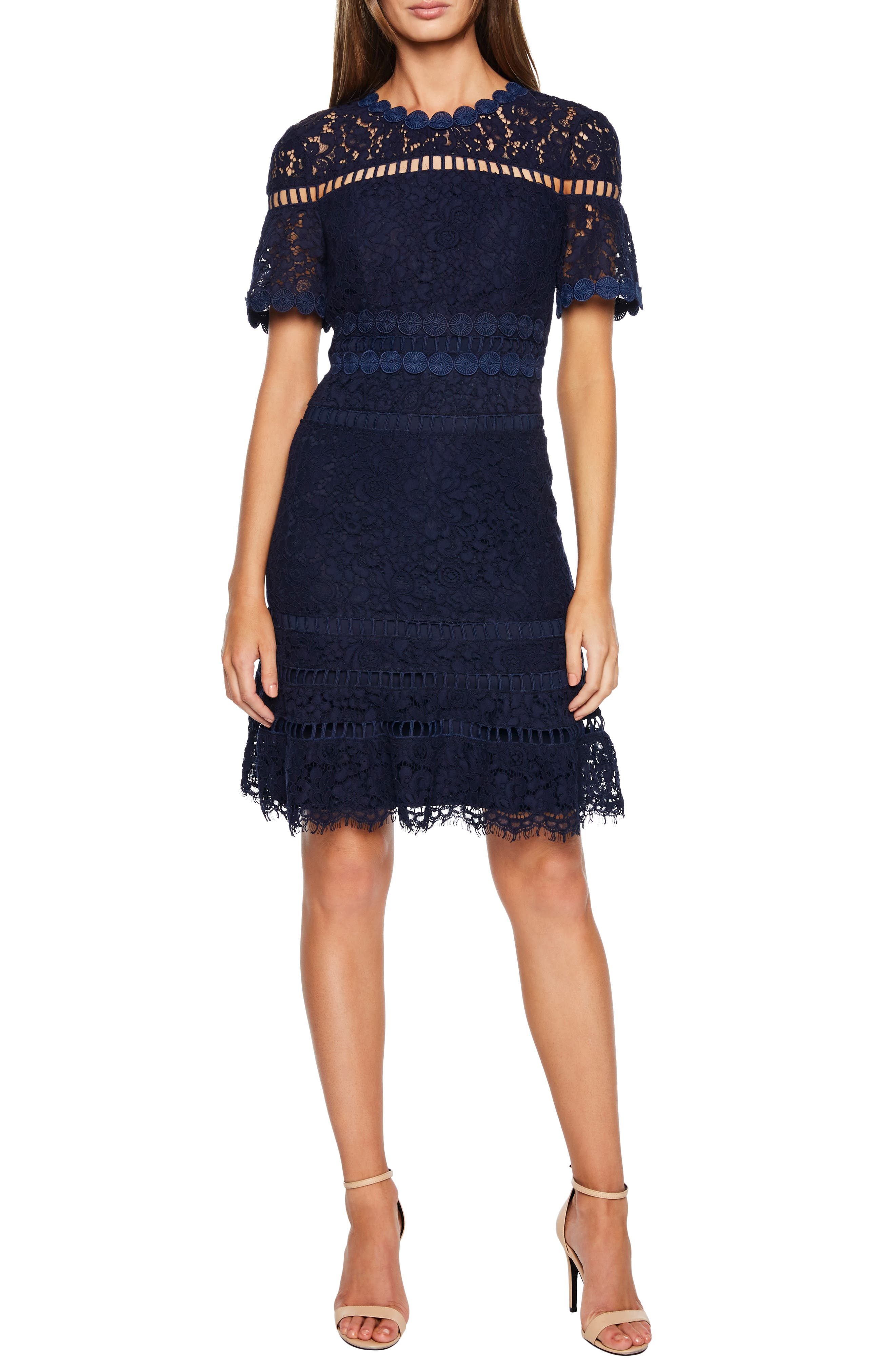Bardot Eloise Lace Dress, Blue