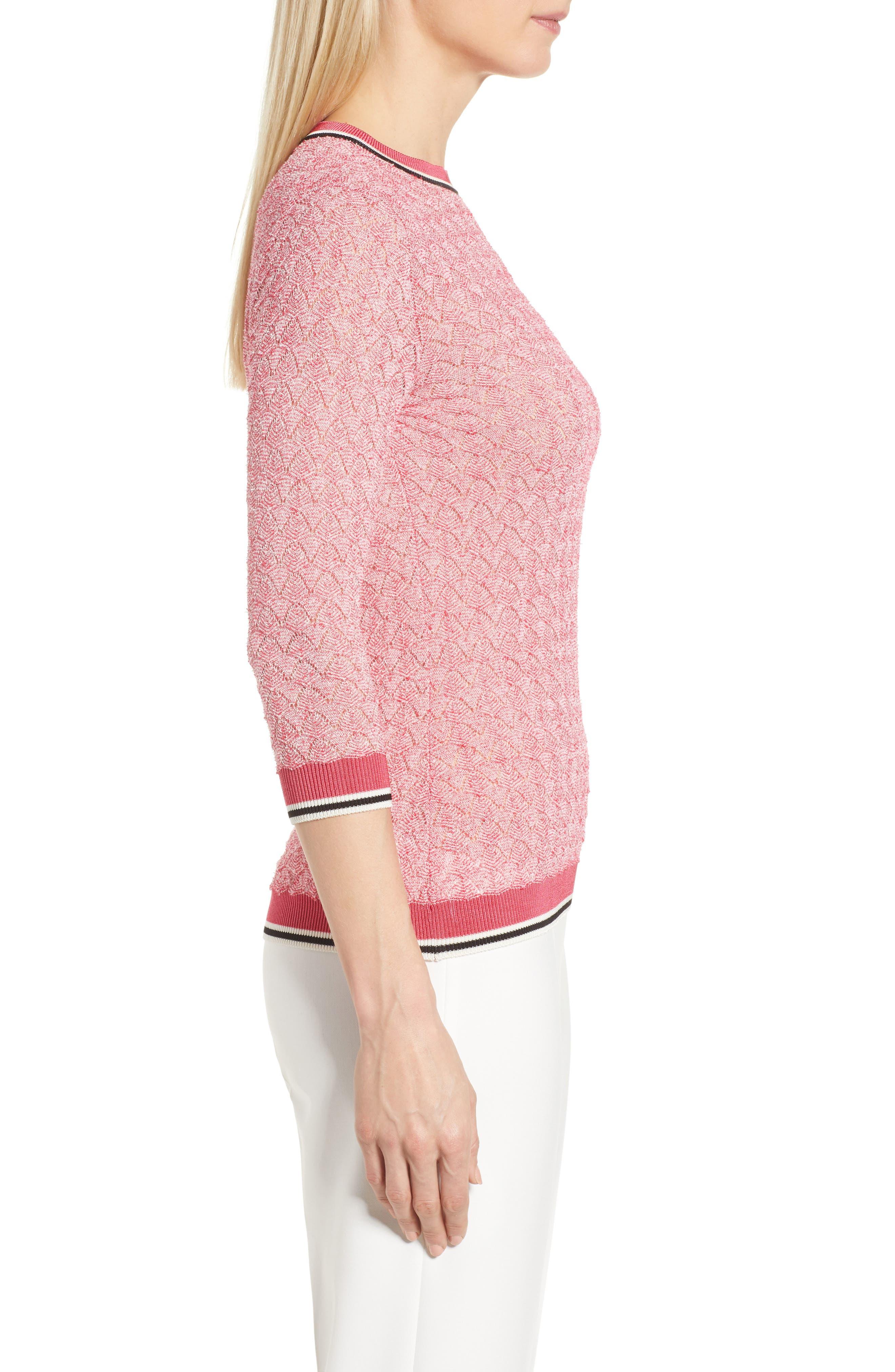 BOSS,                             Basket Weave Sweater,                             Alternate thumbnail 3, color,                             675
