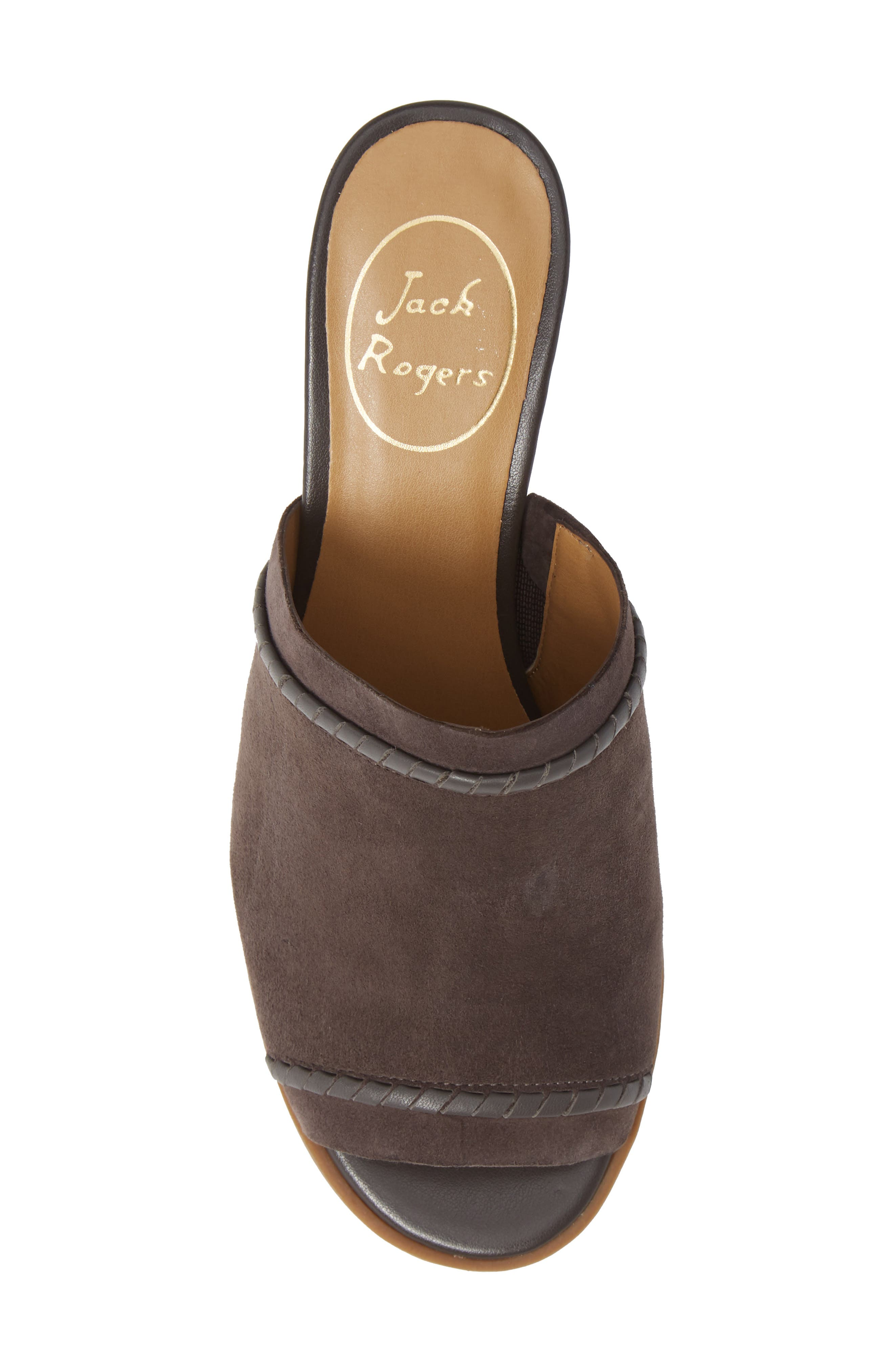 Campbell Mule,                             Alternate thumbnail 5, color,                             CHARCOAL SUEDE