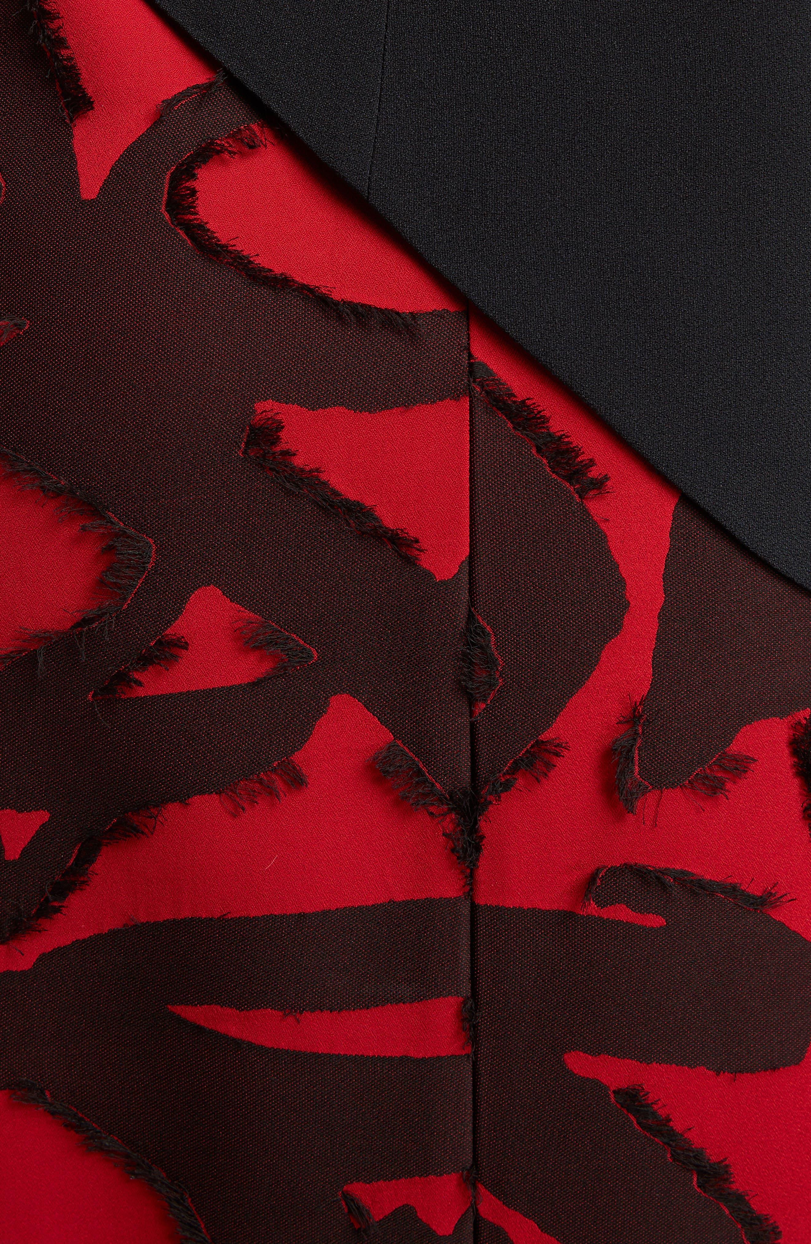Fil Coupé Jacquard Layered Dress,                             Alternate thumbnail 5, color,                             001