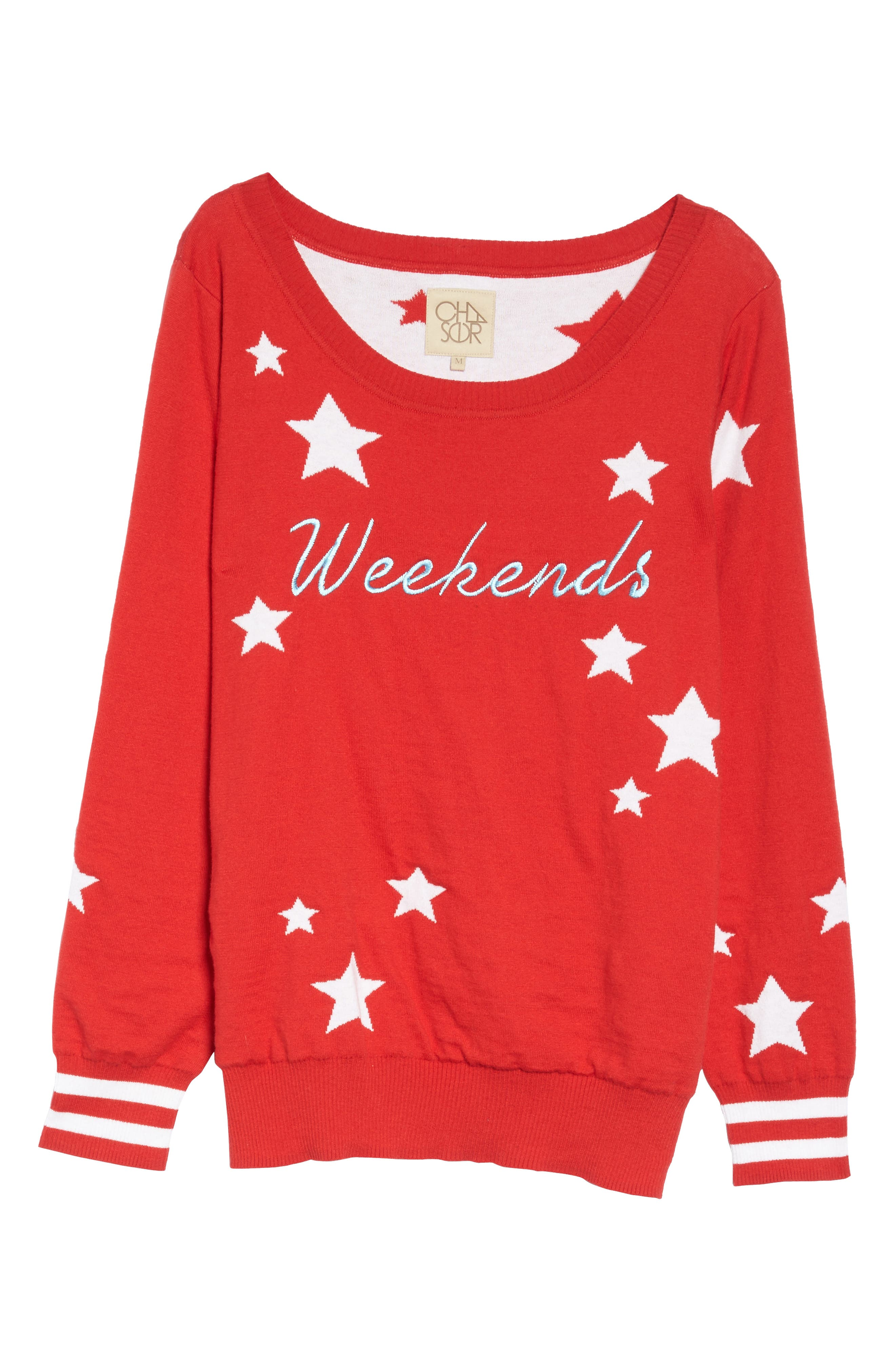Weekends Intarsia Sweater,                             Alternate thumbnail 6, color,                             608