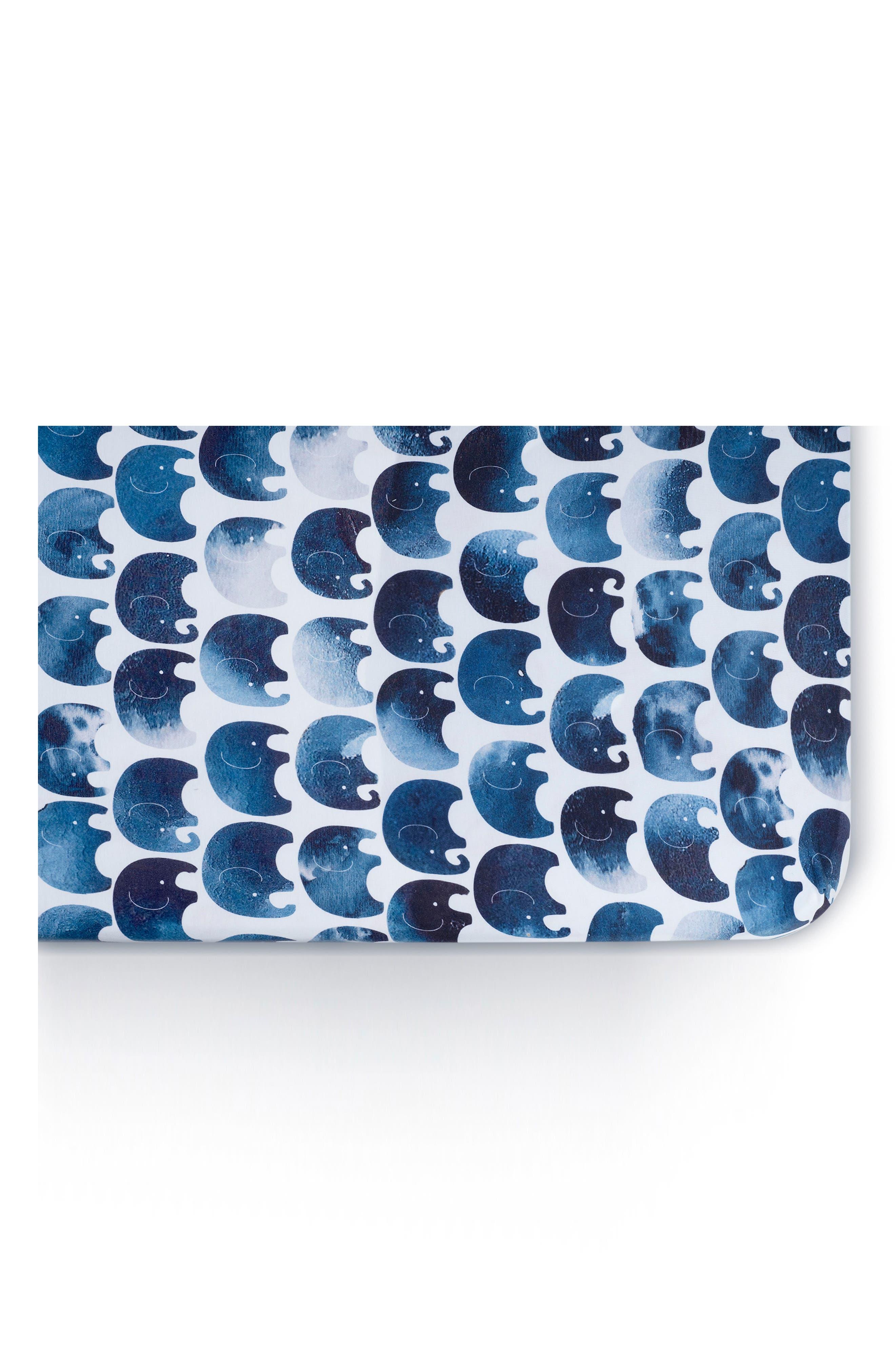 OILO Elefant Jersey Crib Sheets, Main, color, ELEFANT