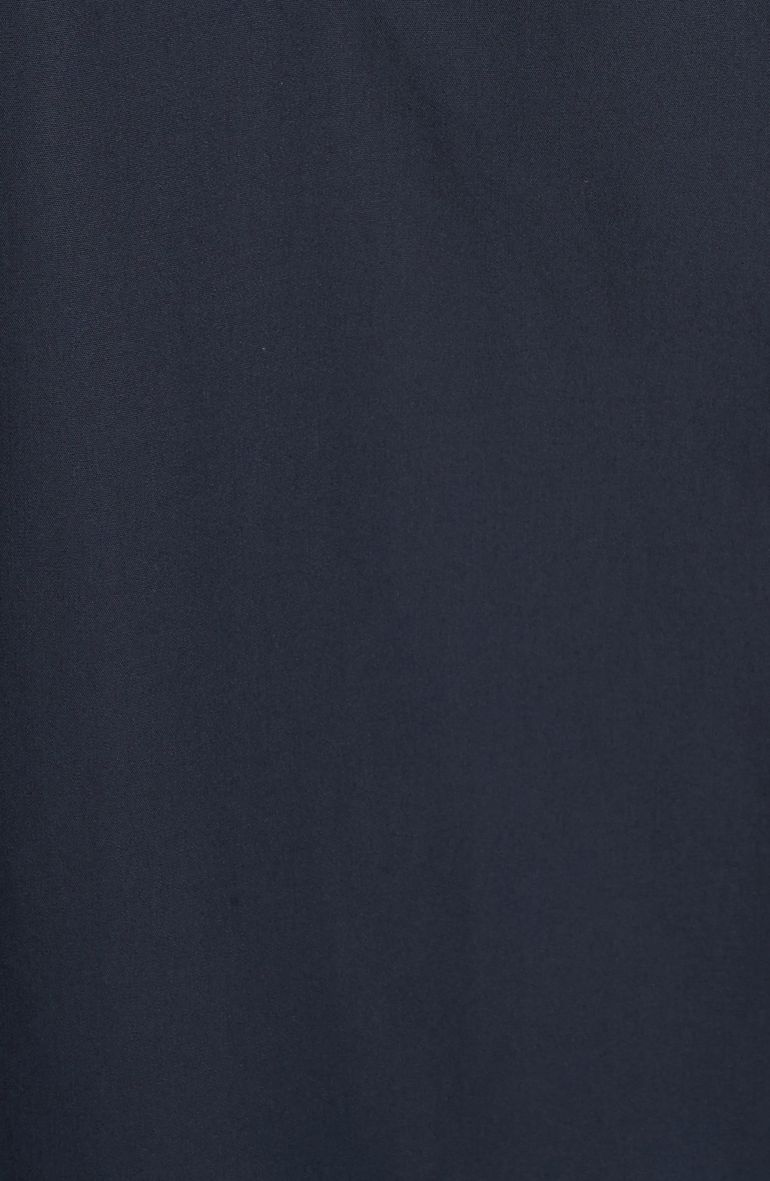 Cotton Poplin Mock Neck Shirt,                             Alternate thumbnail 5, color,                             400