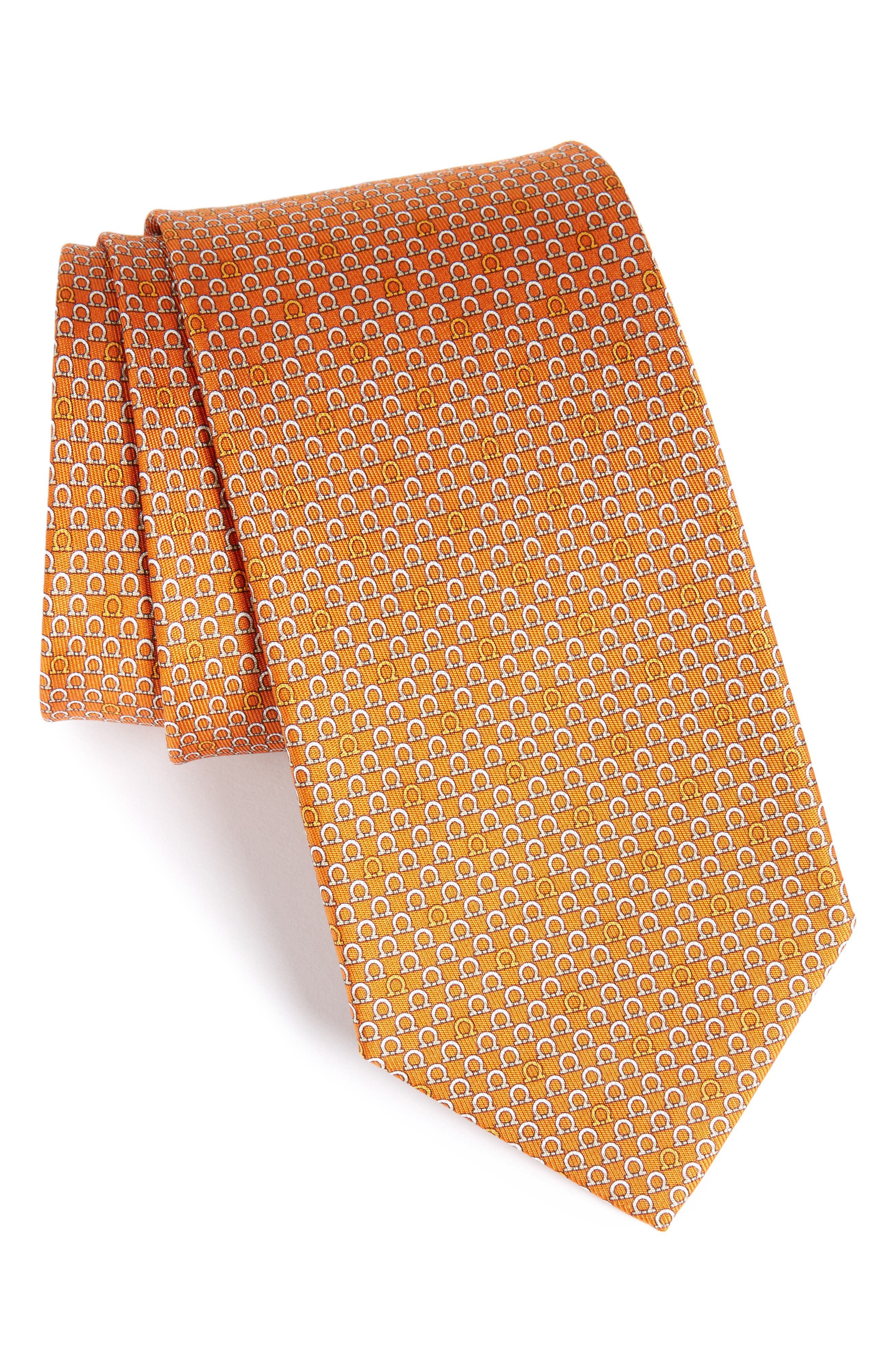 Geometric Print Silk Tie,                             Main thumbnail 4, color,