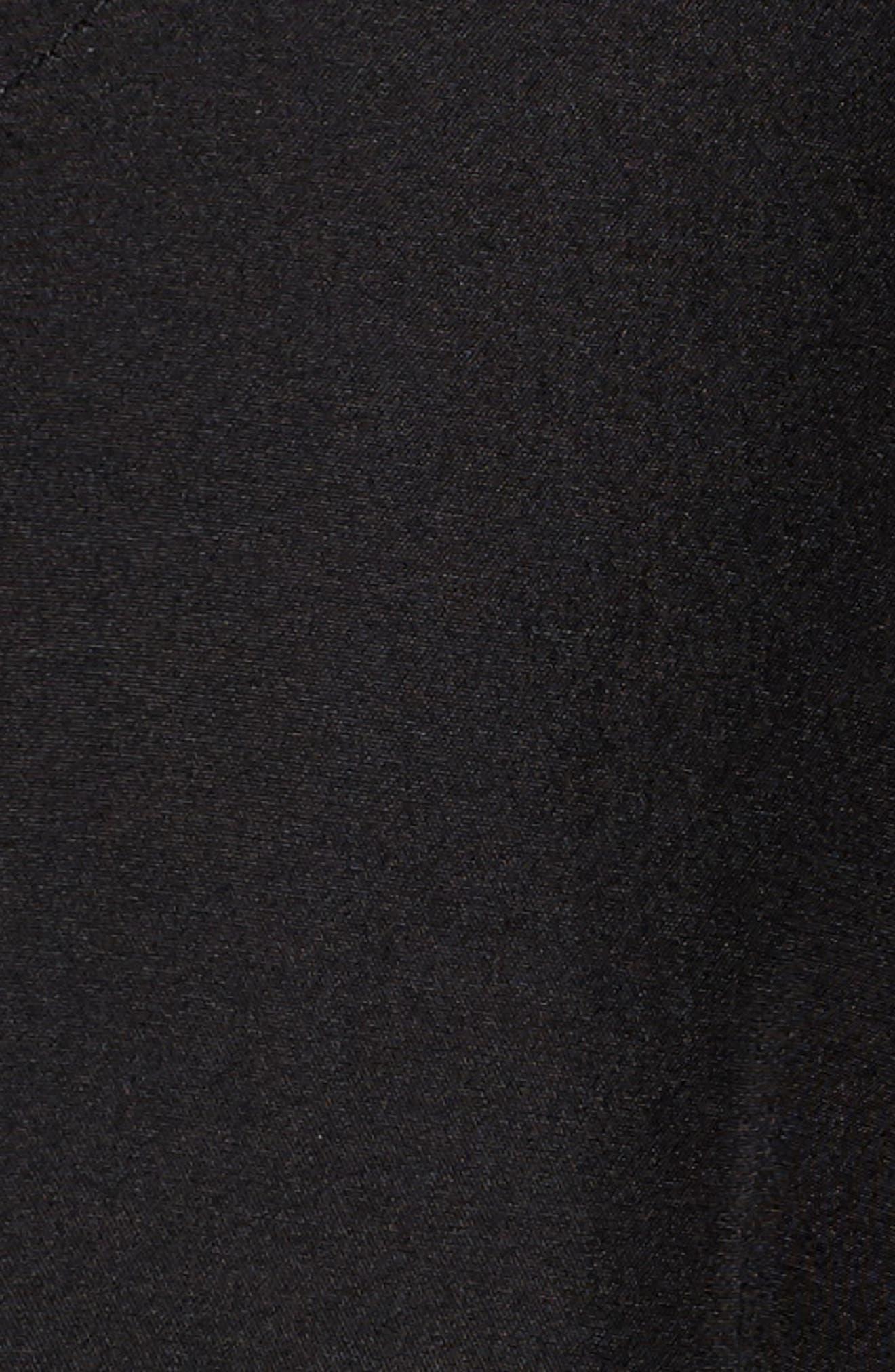 Couture Packable Silk Coat with Genuine Fox Fur & Genuine Rabbit Fur,                             Alternate thumbnail 6, color,                             001