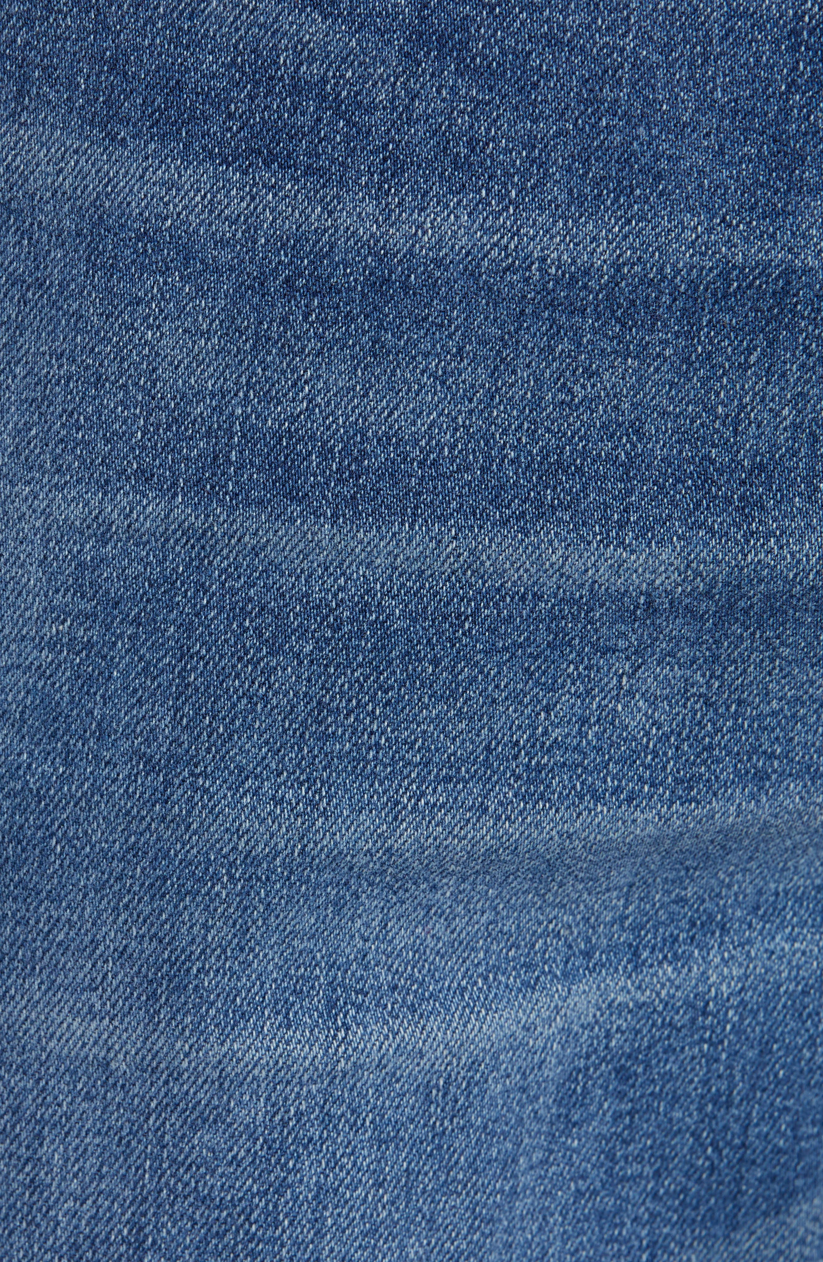 Automatic Straight Leg Jeans,                             Alternate thumbnail 5, color,                             FADED INDIGO