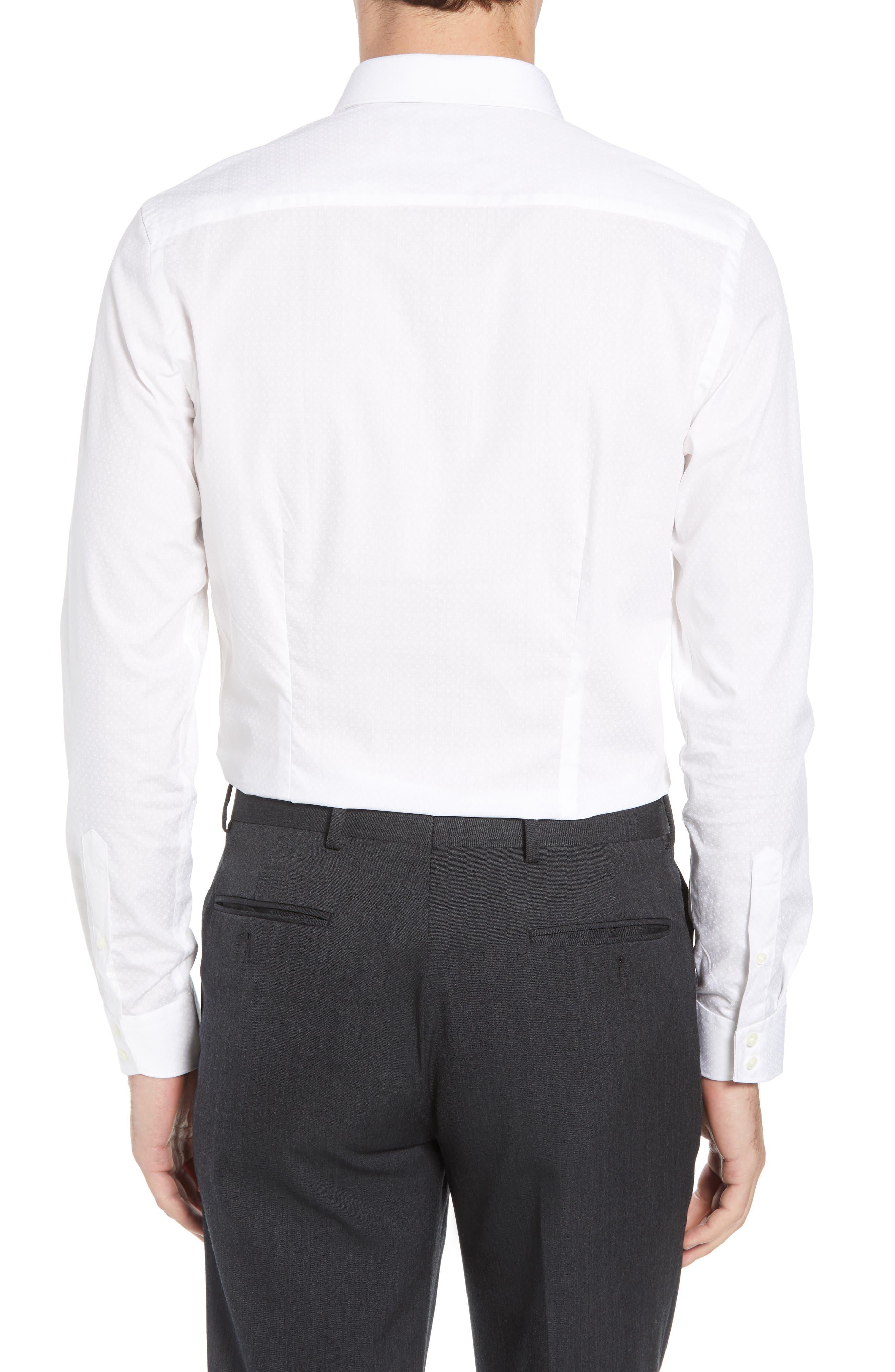 Loops Slim Fit Dress Shirt,                             Alternate thumbnail 3, color,                             110