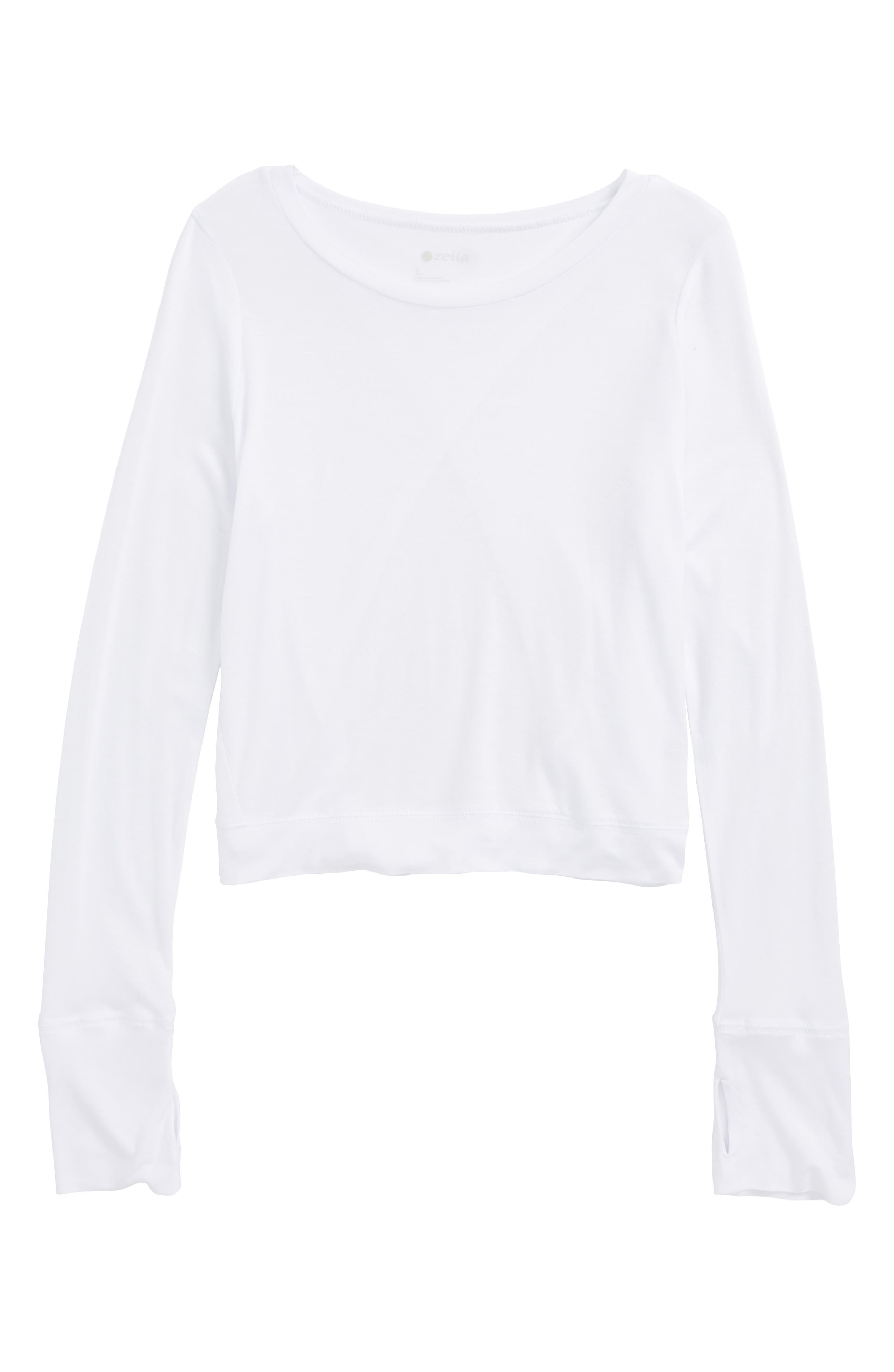 Crossover Back Tee,                         Main,                         color, 100