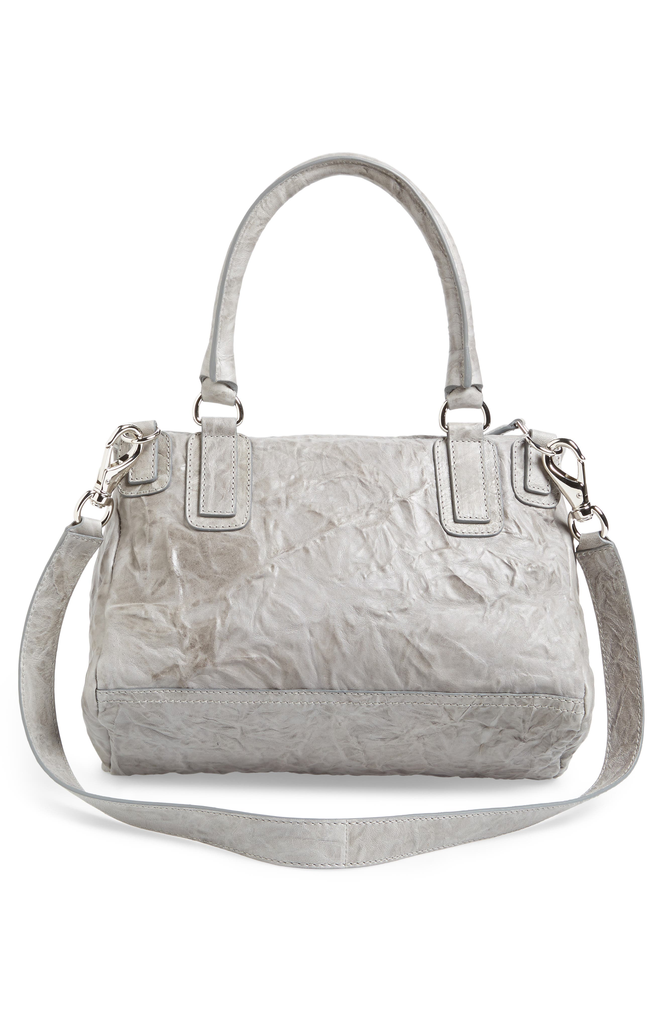 'Medium Pepe Pandora' Leather Satchel,                             Alternate thumbnail 3, color,                             PEARL GREY