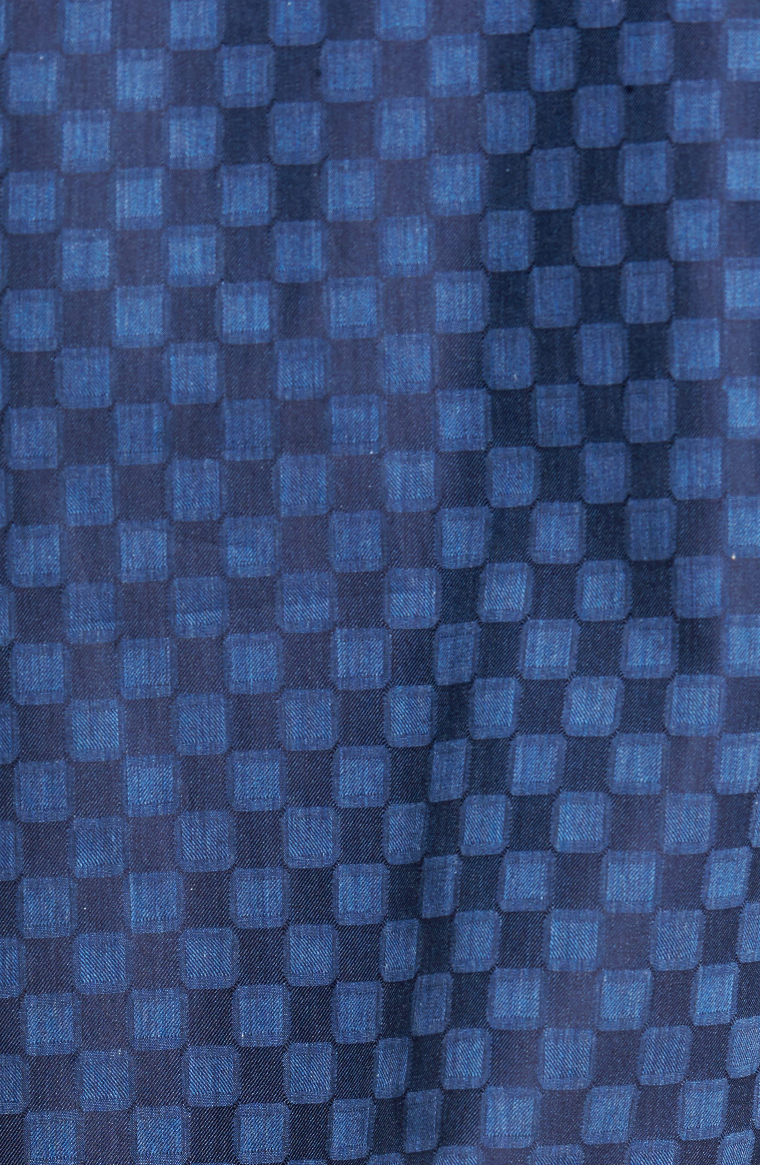 Slim Fit Square Jacquard Sport Shirt,                             Alternate thumbnail 5, color,                             408
