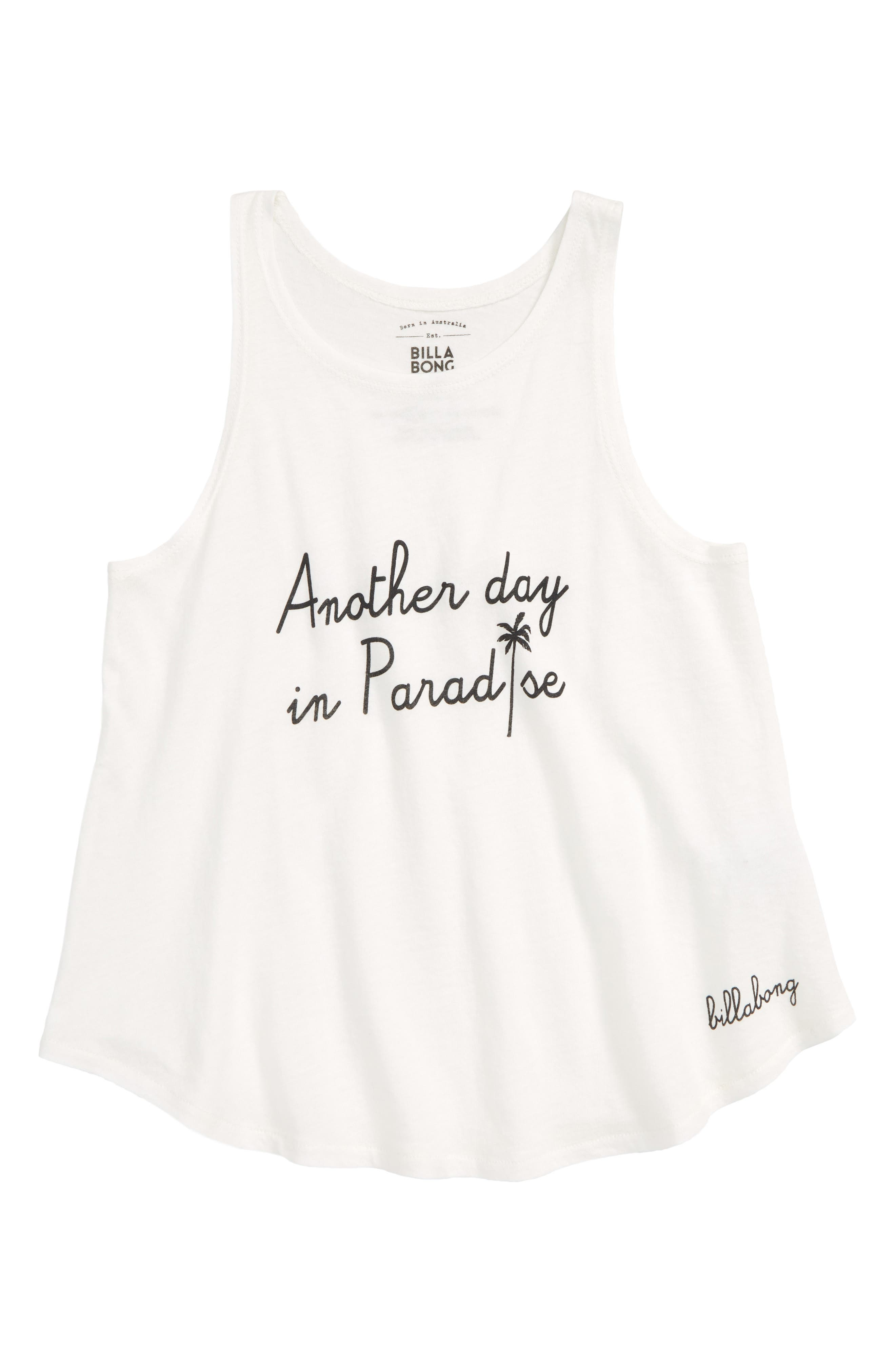 Another Day in Paradise Graphic Tank,                             Main thumbnail 1, color,                             COOL WIP