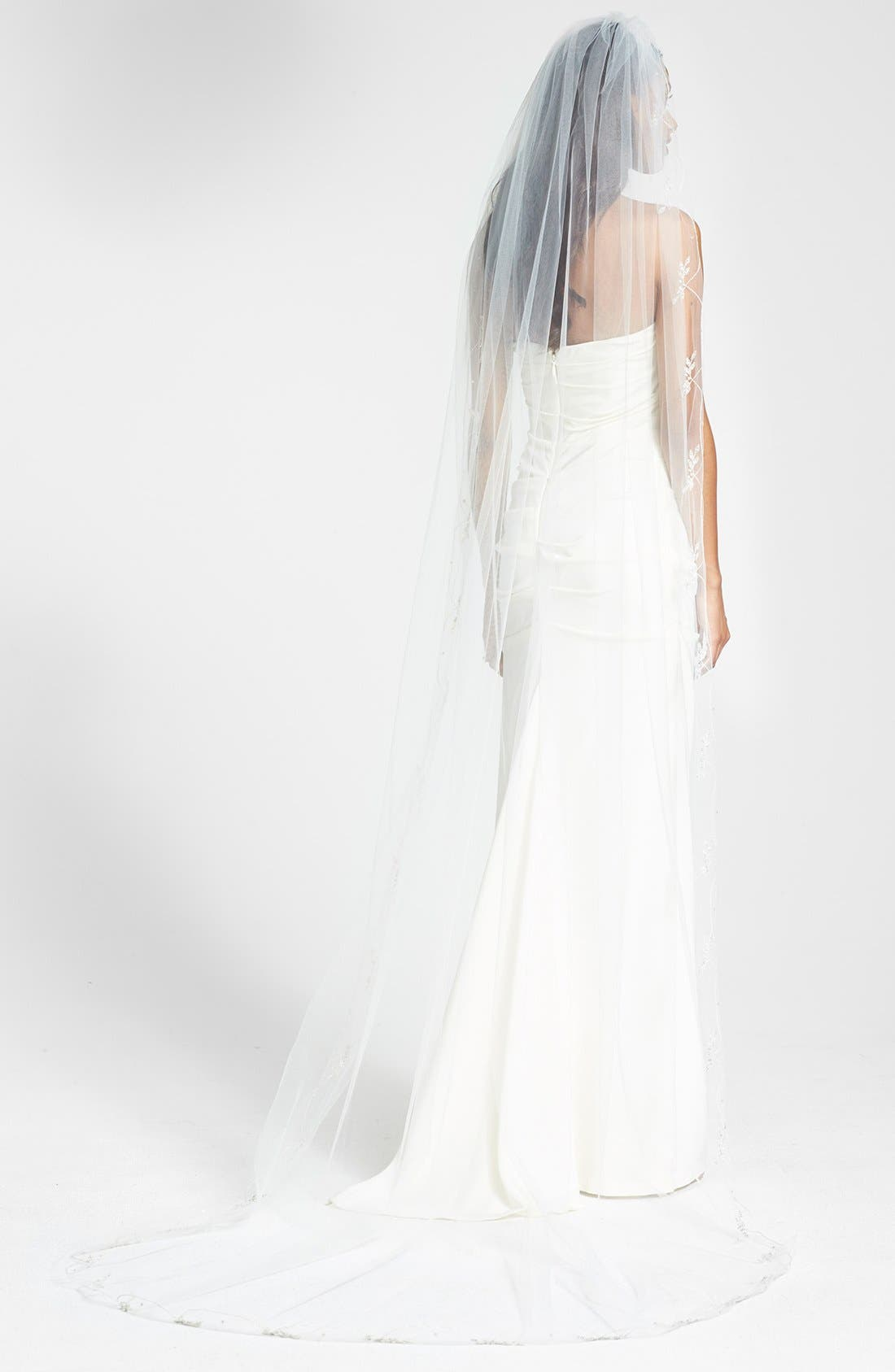 'Chanson' Embroidered Cathedral Veil,                         Main,                         color, 900