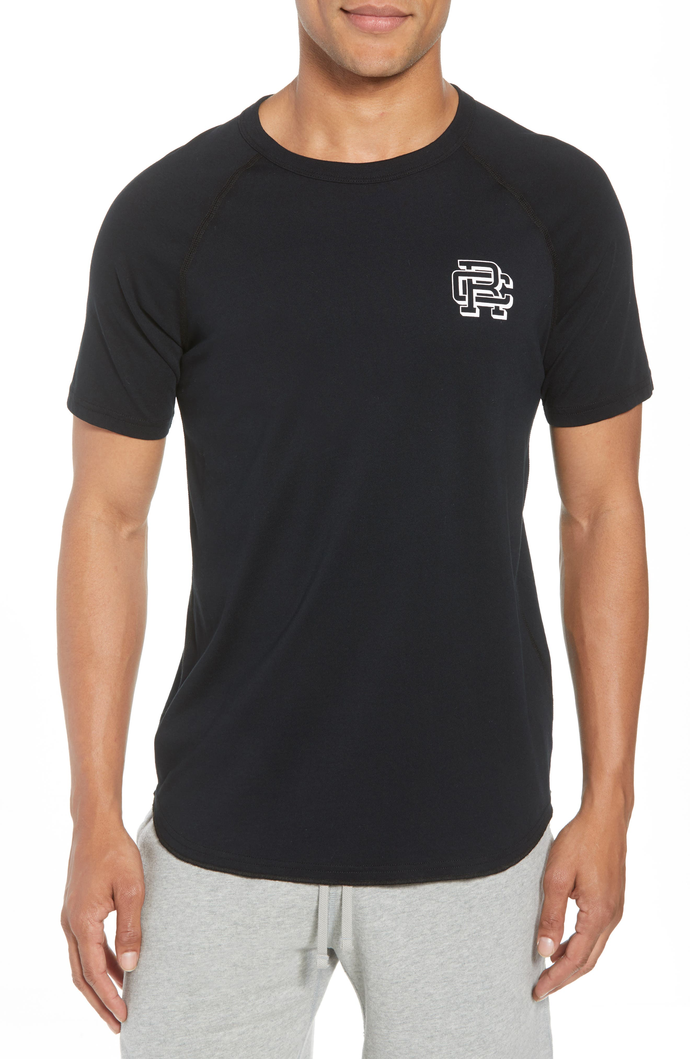 Reigning Champ Logo Crewneck T-Shirt, Black