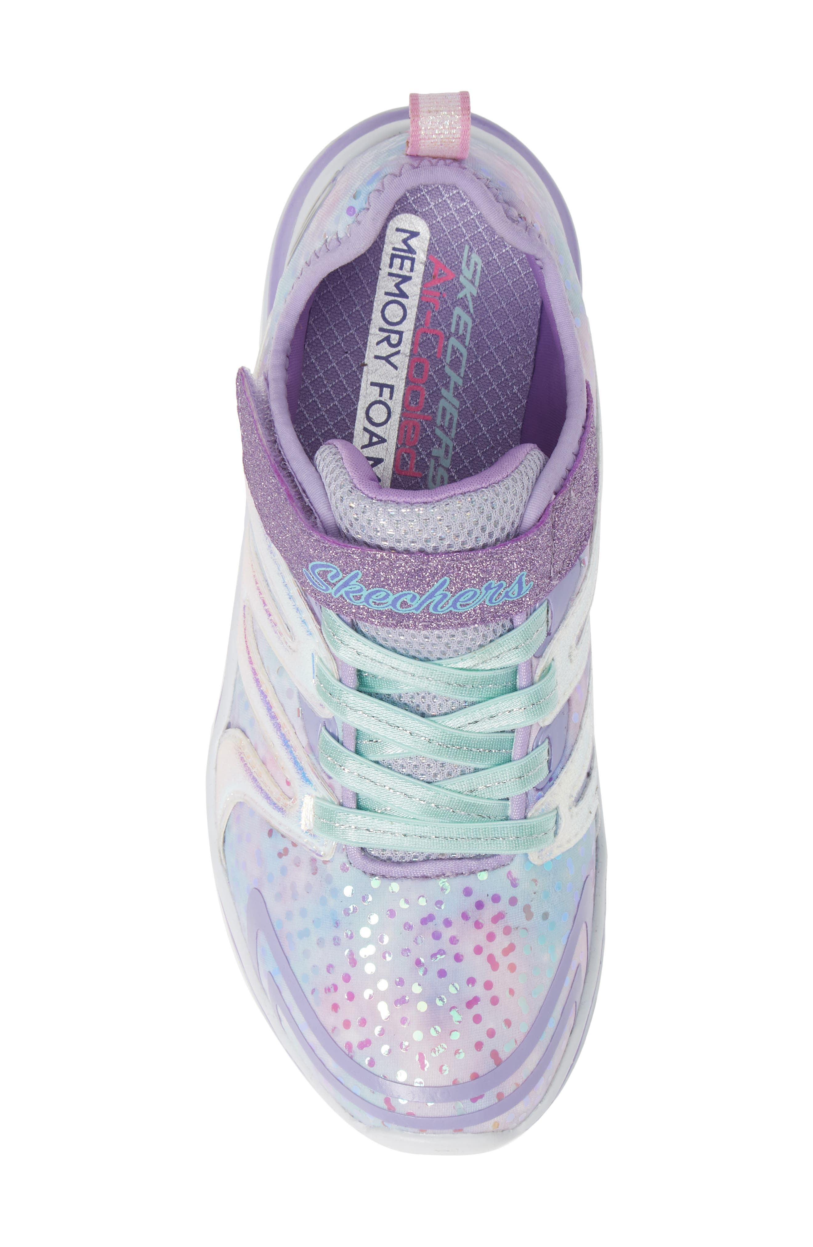 Double Dreams Shimmer Sneaker,                             Alternate thumbnail 5, color,                             LAVENDER/ MULTI