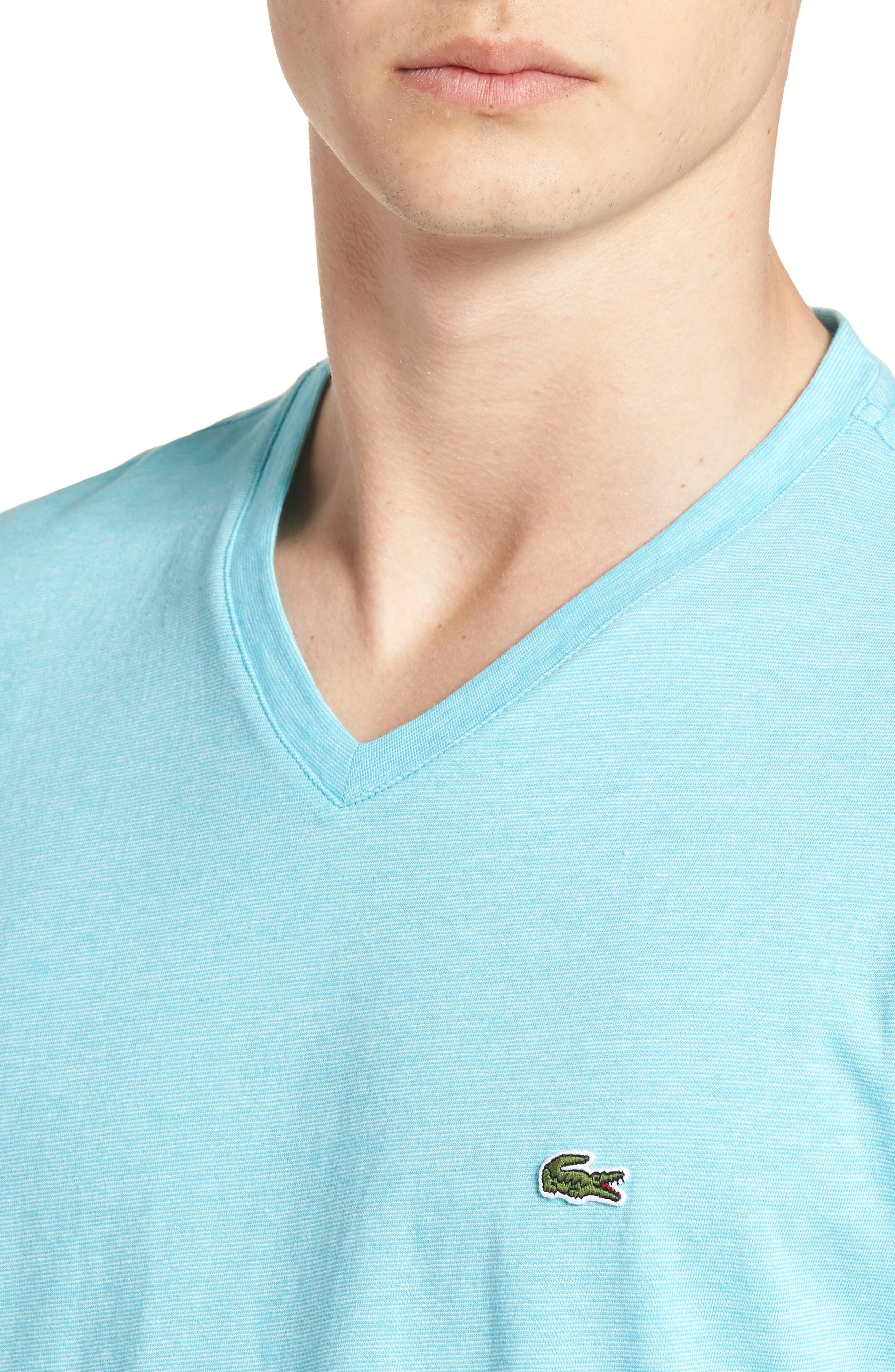 V-Neck Cotton T-Shirt,                             Alternate thumbnail 11, color,