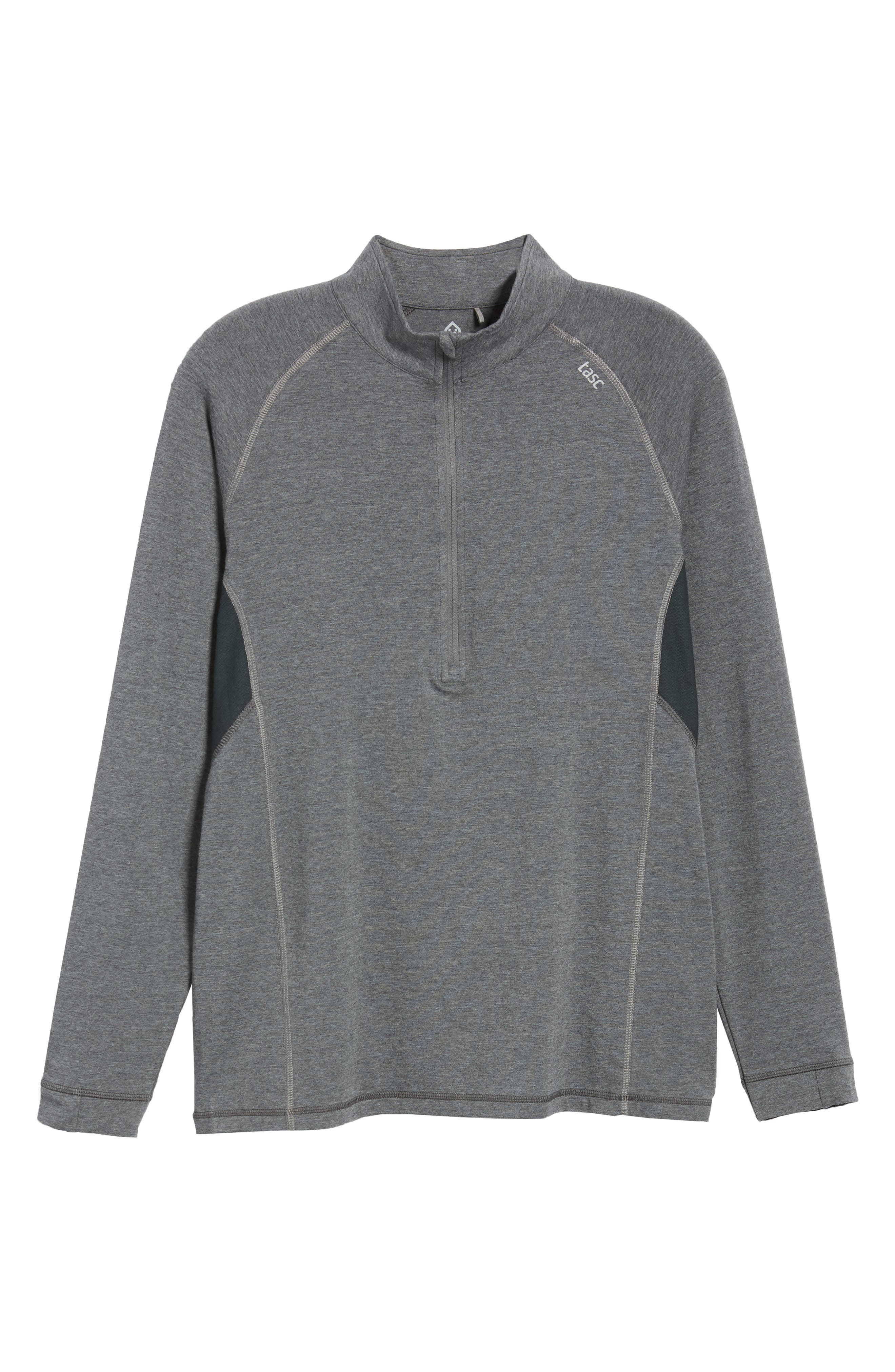 Charge II Half Zip Pullover,                             Alternate thumbnail 5, color,                             BLACK HEATHER