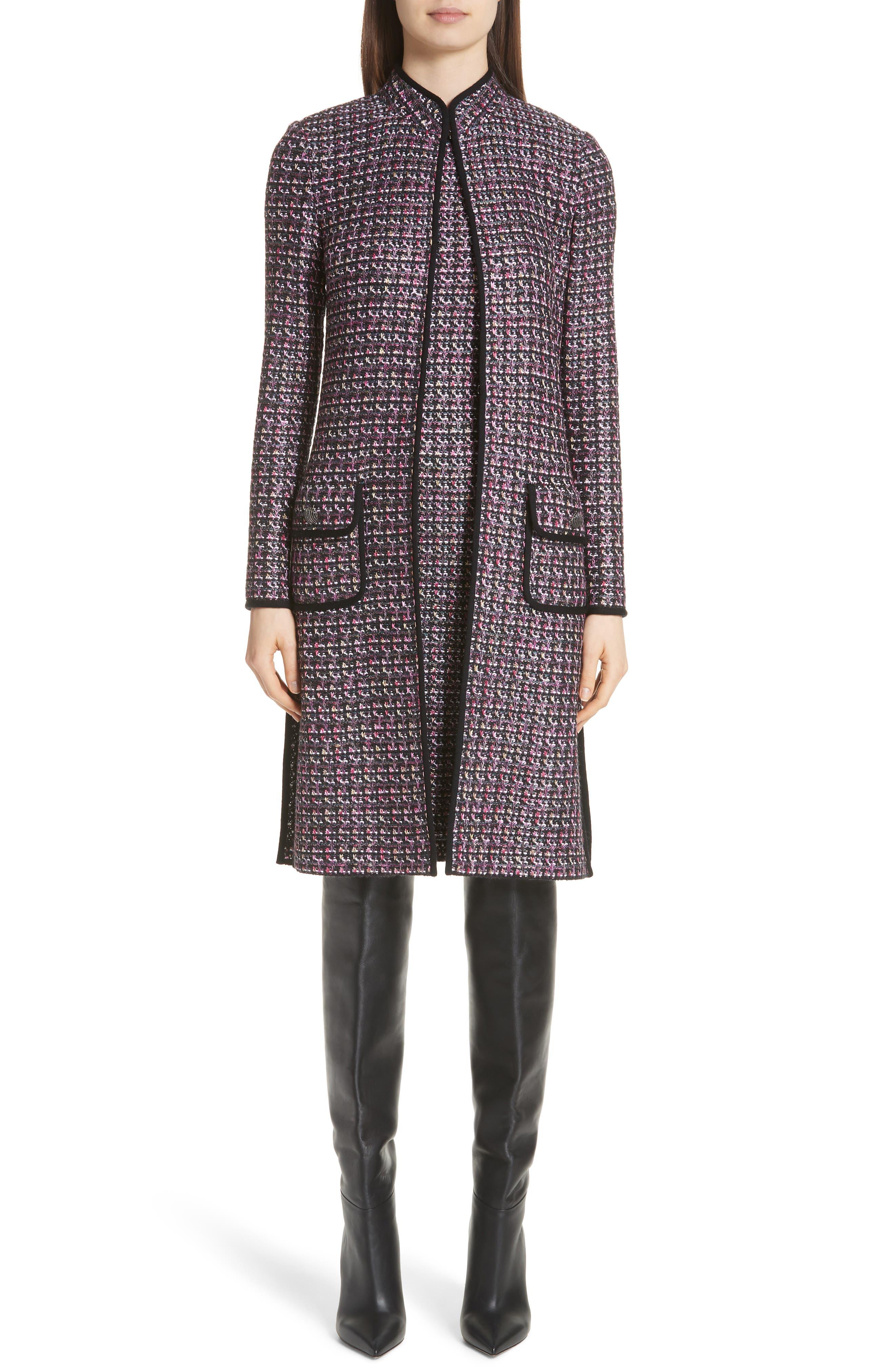 Painterly Sheen Tweed Knit Dress,                             Alternate thumbnail 7, color,                             GRANITE MULTI