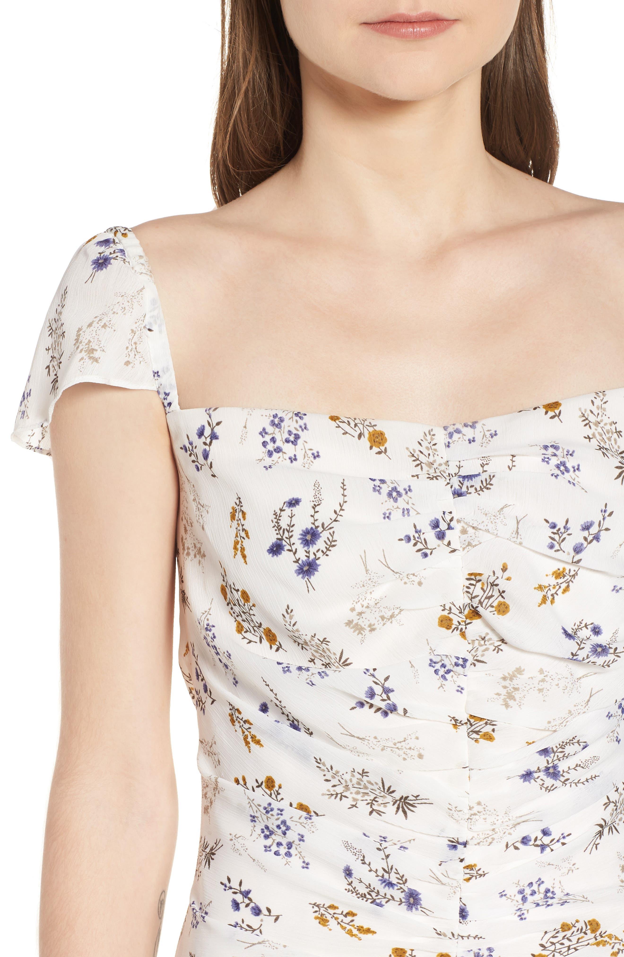 Bailey Midi Dress,                             Alternate thumbnail 4, color,                             100