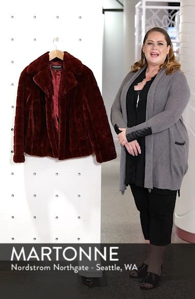 Quilted Faux Fur Jacket, sales video thumbnail