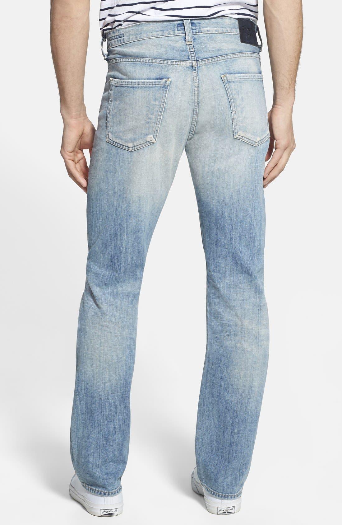 'Sid' Straight Leg Jeans,                             Alternate thumbnail 4, color,                             CONFEDERACY